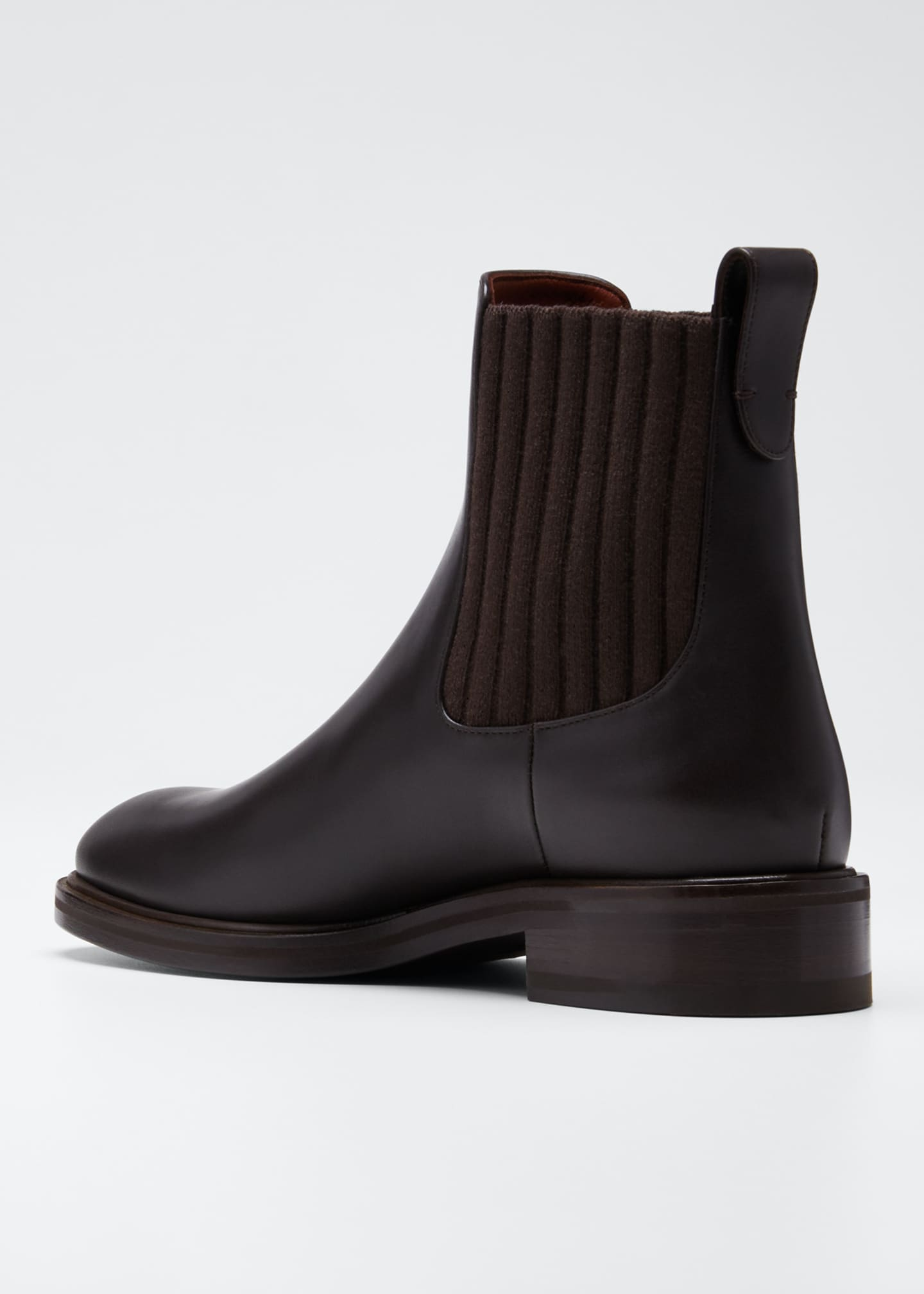Image 4 of 5: Auckland Leather Chelsea Booties