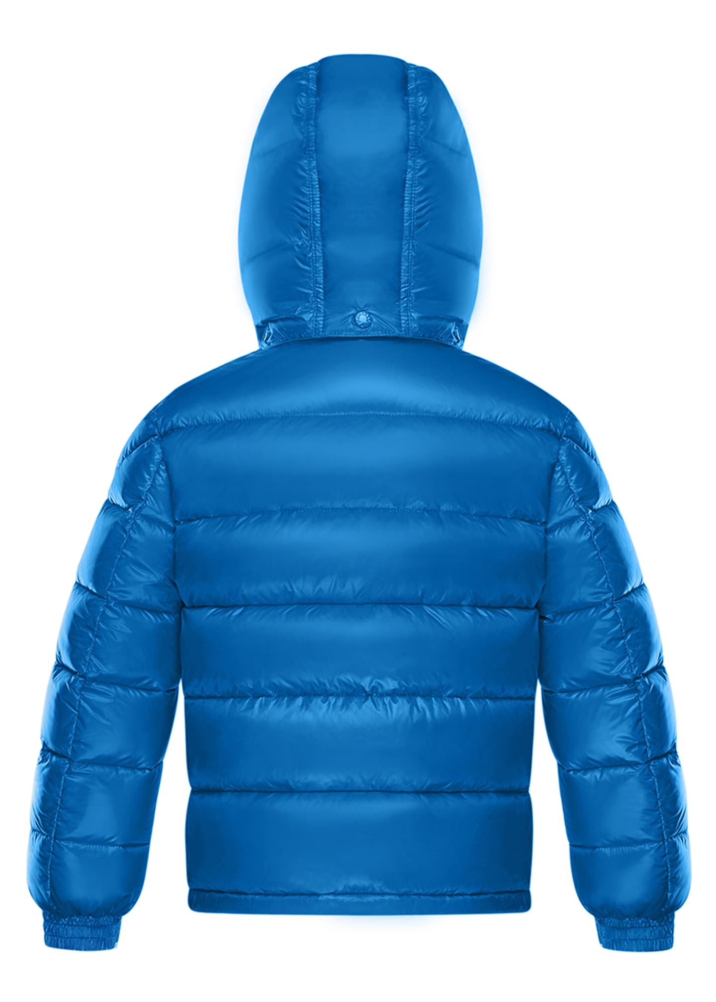Image 2 of 2: New Maya Quilted Hooded Nylon Puffer Jacket, Size 8-14