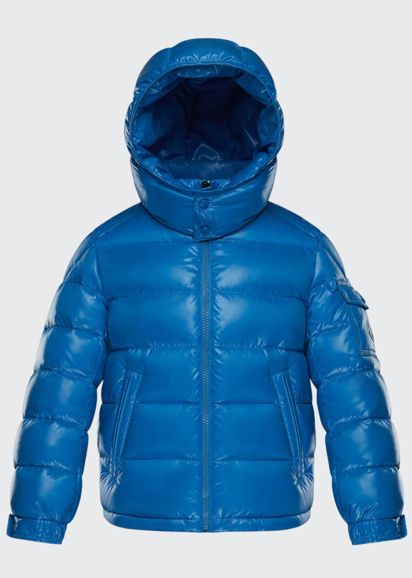 Image 1 of 2: New Maya Quilted Hooded Nylon Puffer Jacket, Size 8-14