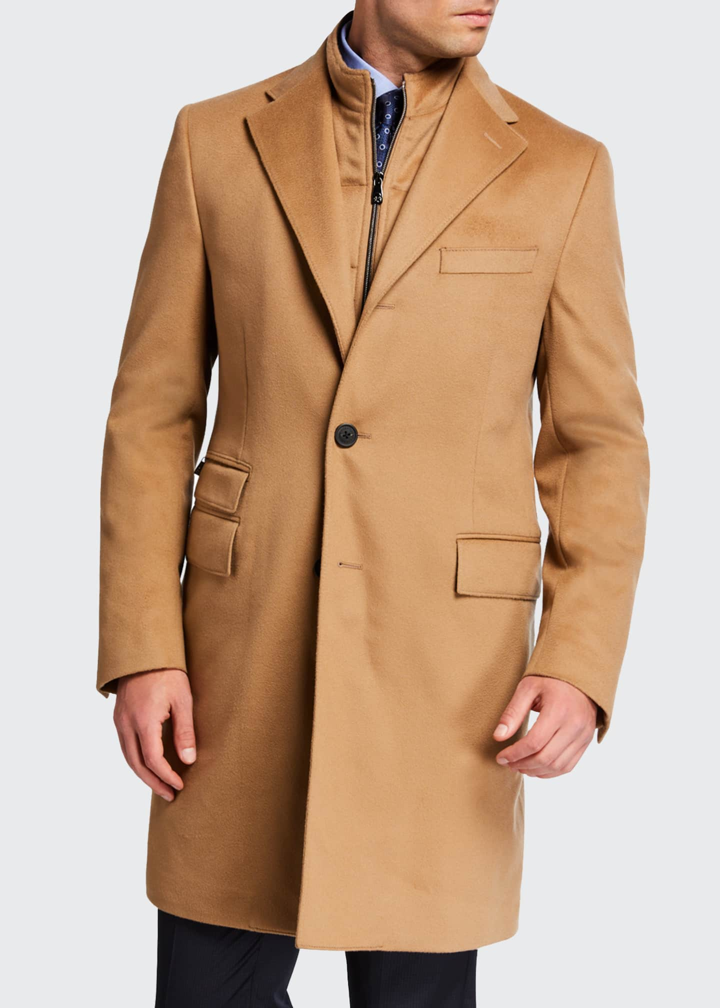 Image 1 of 4: Men's ID Top Coat w/ Removable Dickey