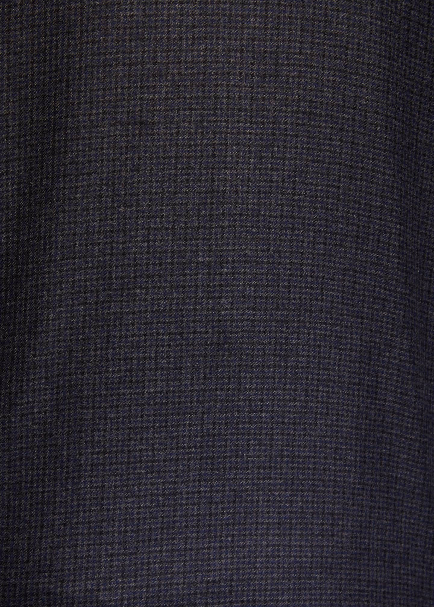 Image 4 of 4: Men's Houndstooth Wool Overshirt
