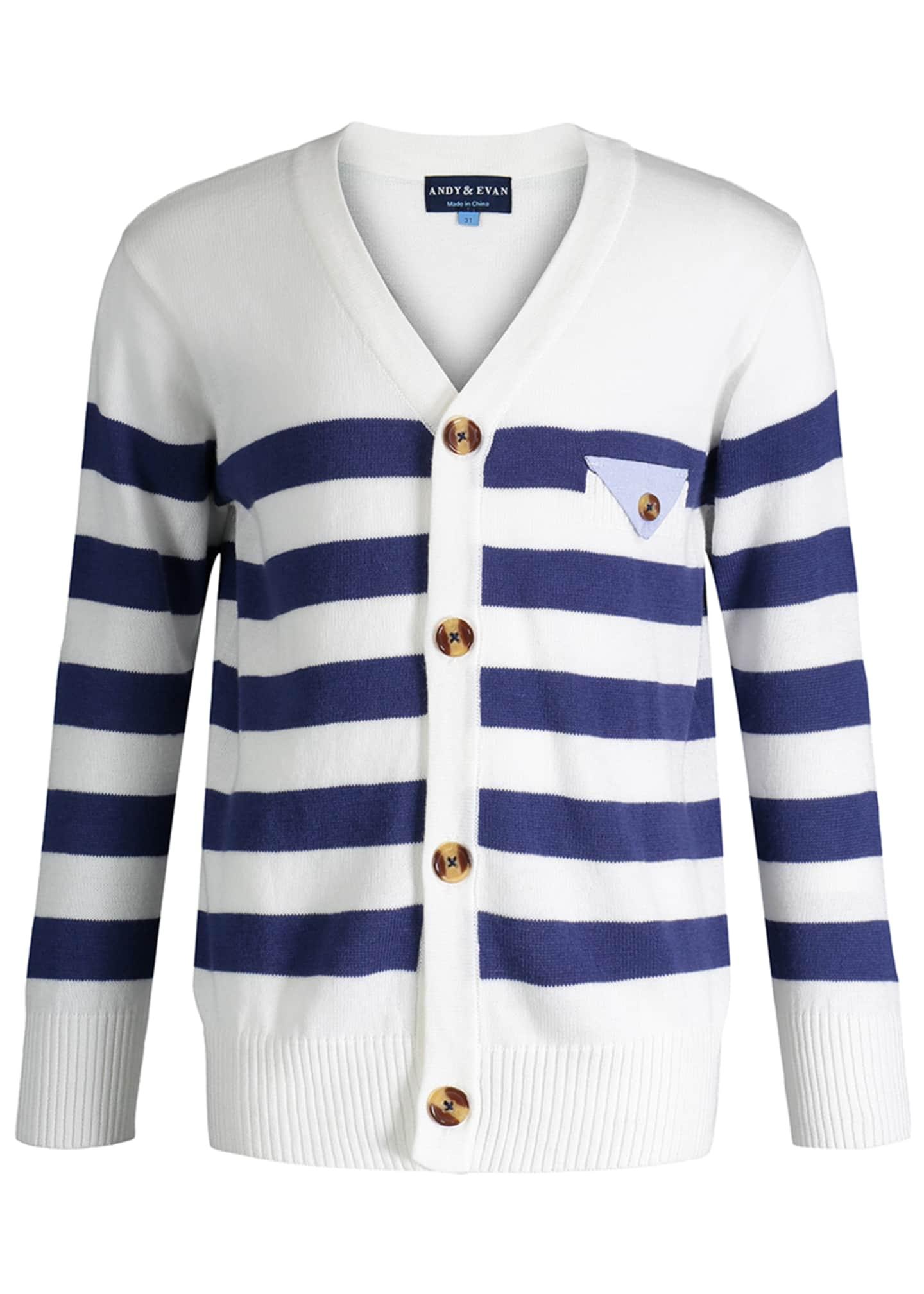 Andy & Evan Varsity Striped Sweater, Size 2-6X