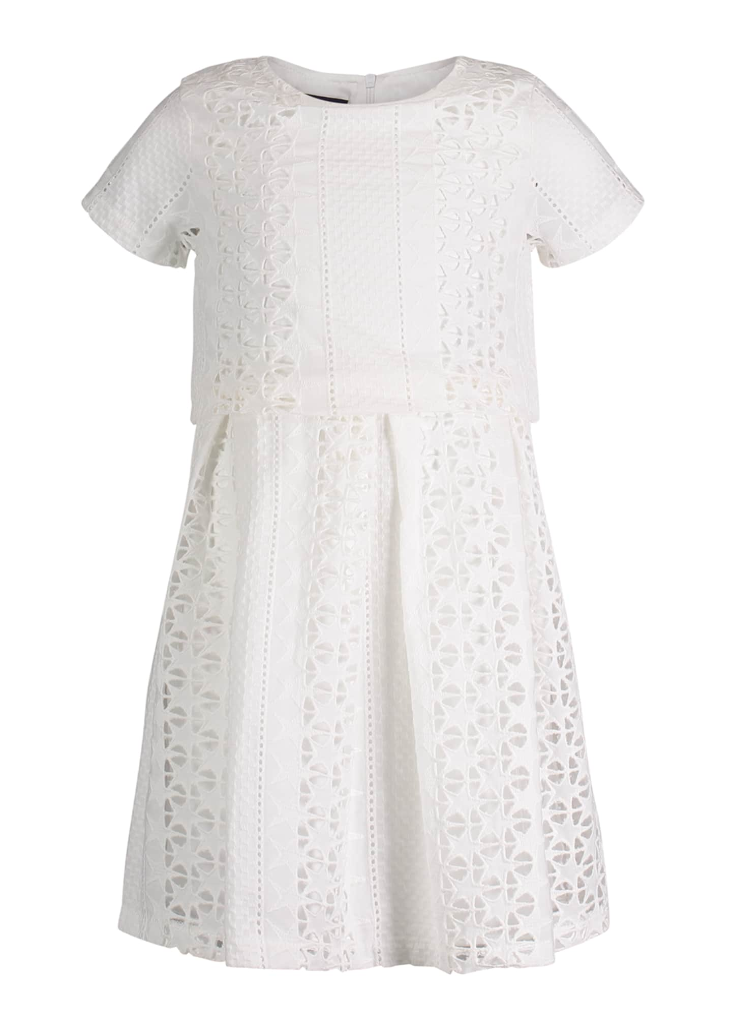 Andy & Evan Short-Sleeve Summer Lace Dress, Size