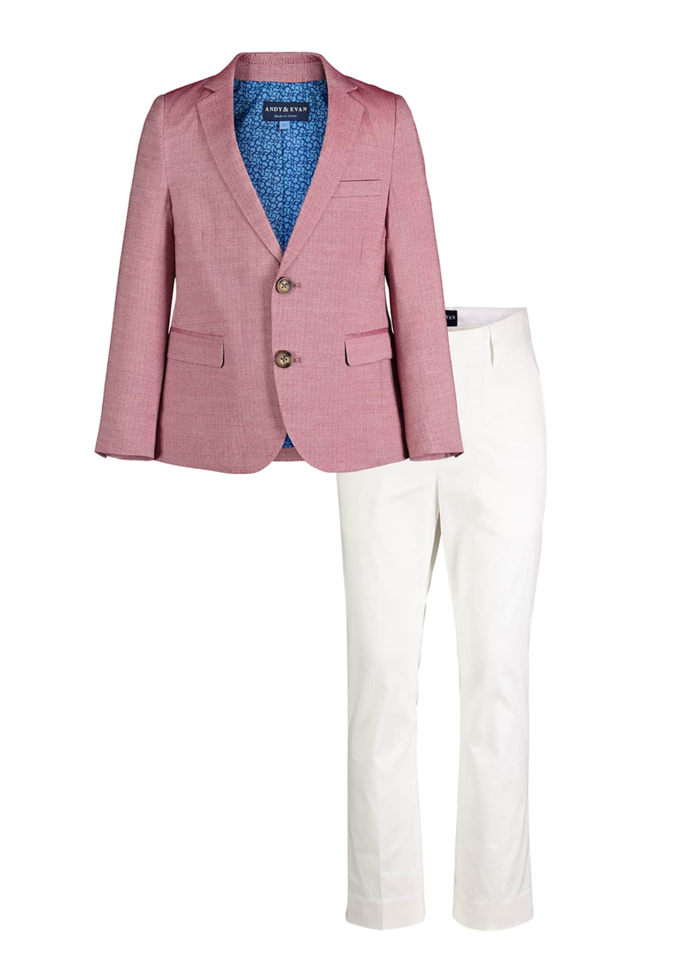Andy & Evan Faded Oxford Blazer w/ Straight-Leg