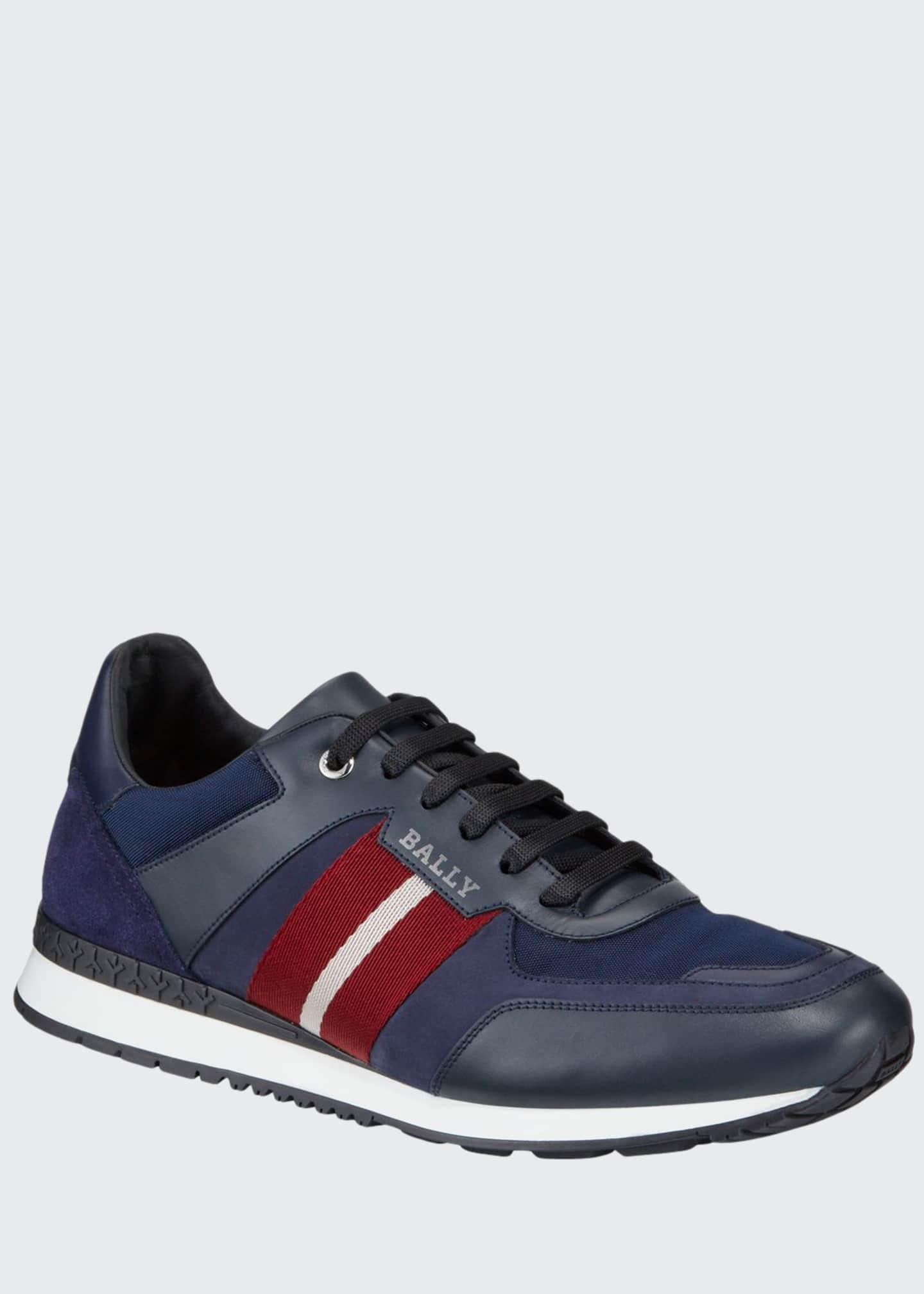 Bally Men's Aseo Multicolor Trainspotting-Stripe Sneakers