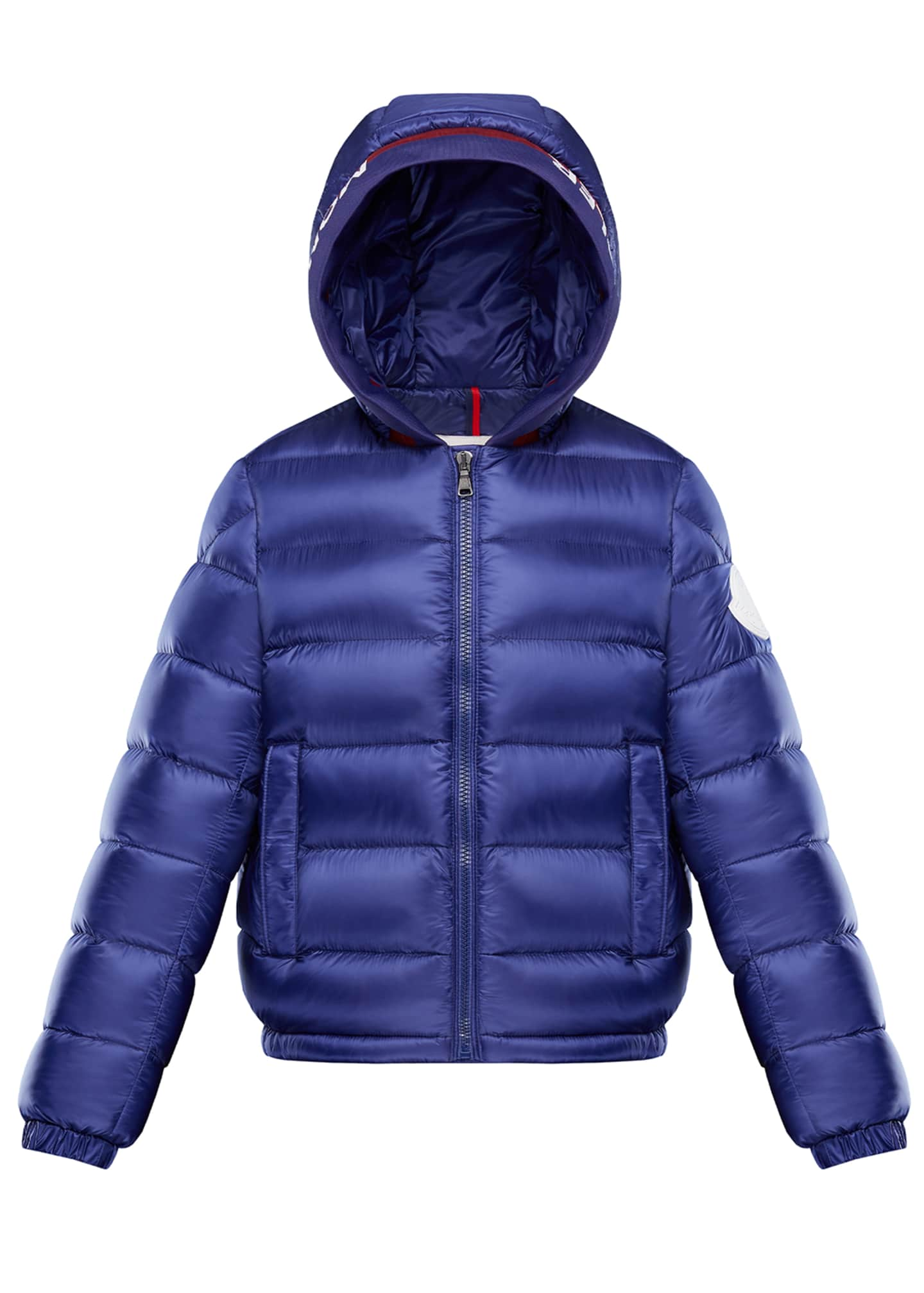 Moncler Basslong Season Quilted Logo-Trim Hooded Puffer Jacket,