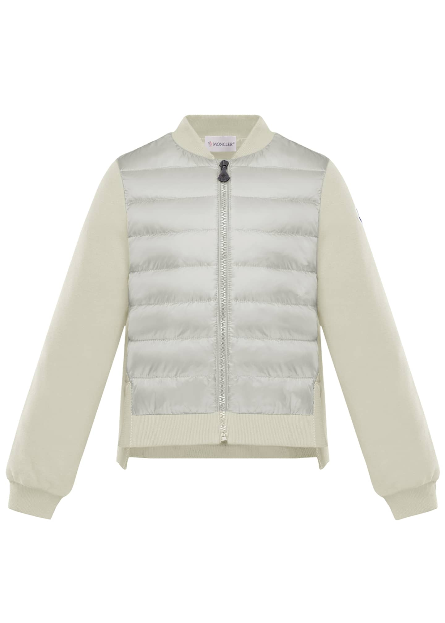 Moncler Maglia Knit & Quilted Combo Jacket, Size