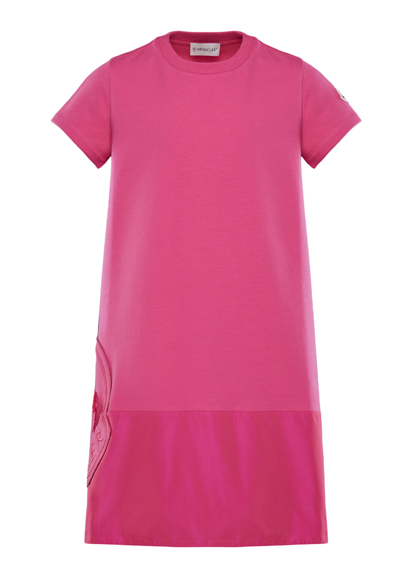 Image 1 of 2: Short-Sleeve A-Line Dress w/ Side Logo Embroidery, Size 8-14