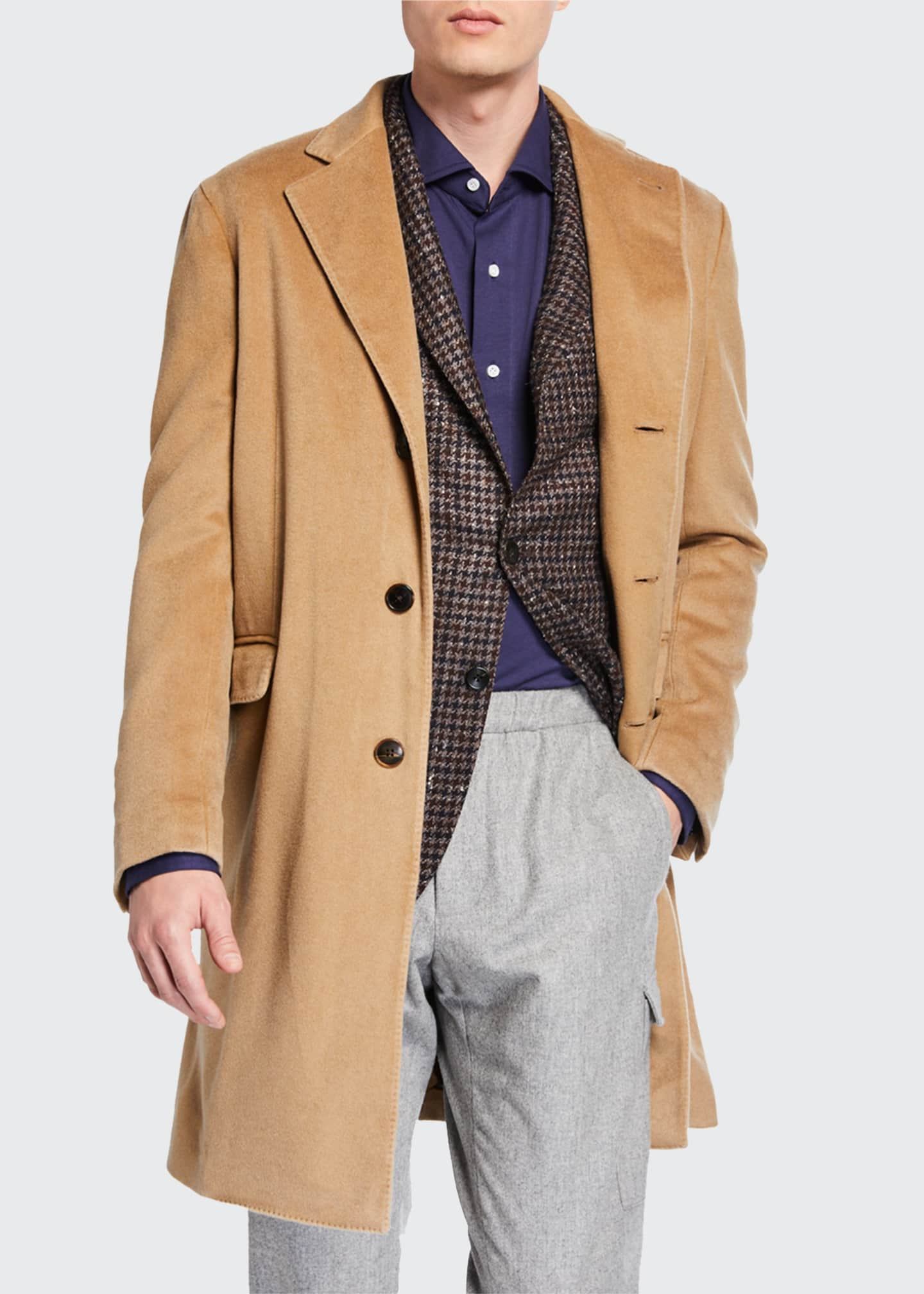 Image 1 of 3: Men's Garment-Dyed Top Coat