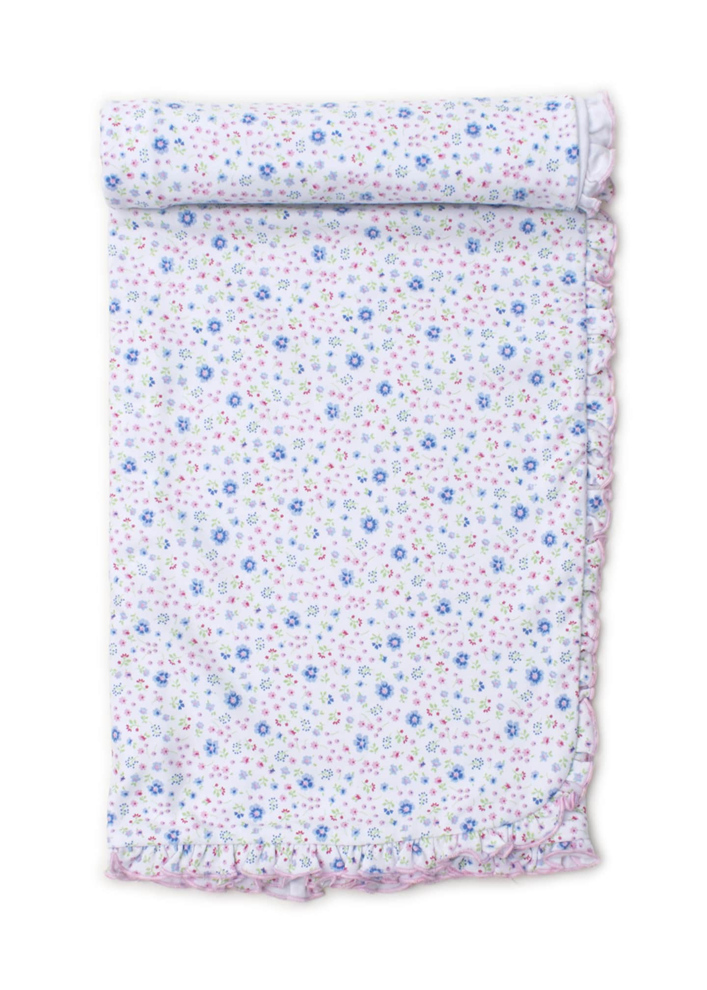 Kissy Kissy Garden Treasure Ruffle-Trim Printed Baby Blanket