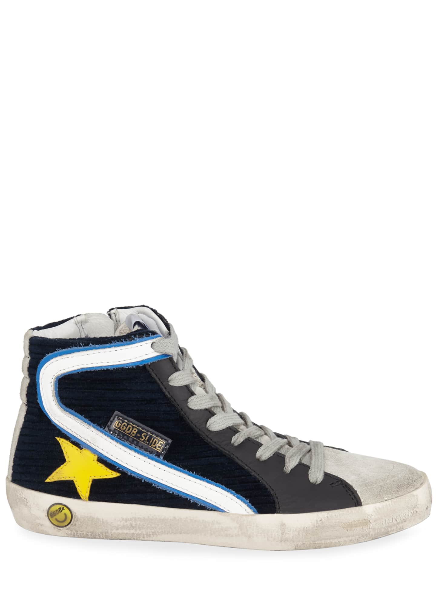 Image 2 of 4: Boy's Slide High-Top Corduroy Sneakers, Toddler/Kids