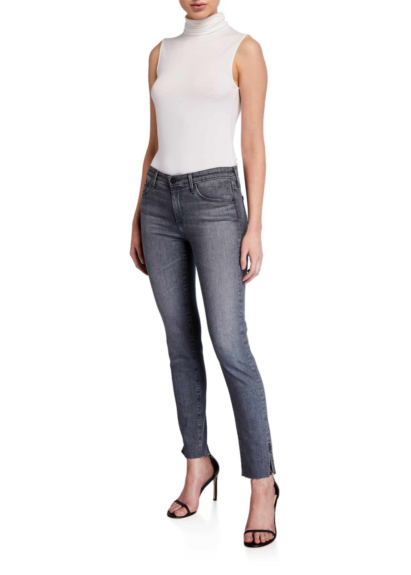 Image 3 of 3: Prima Mid-Rise Straight-Leg Ankle Jeans