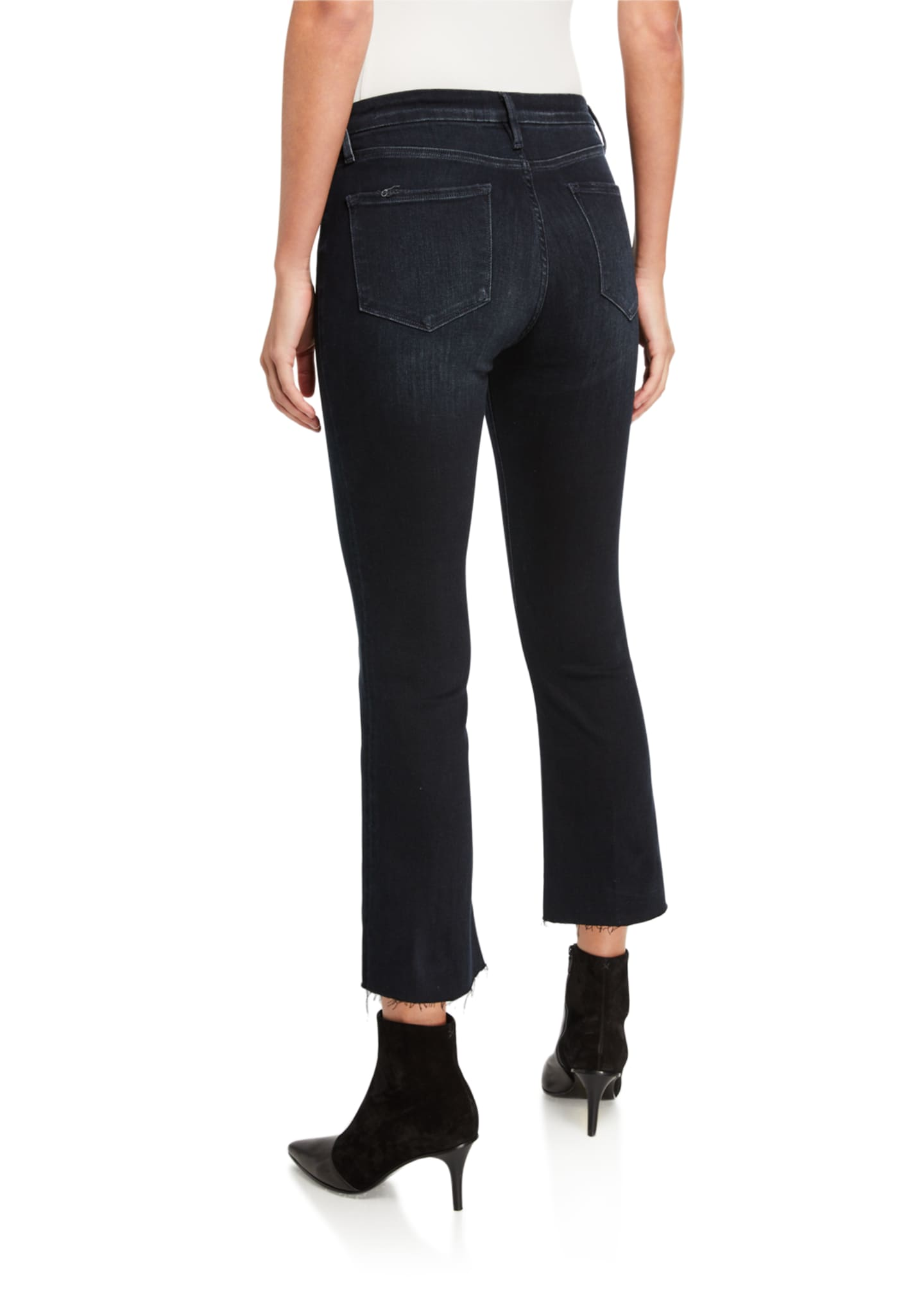 Image 2 of 3: Le Crop Mini Boot-Cut Jeans with Raw Hem