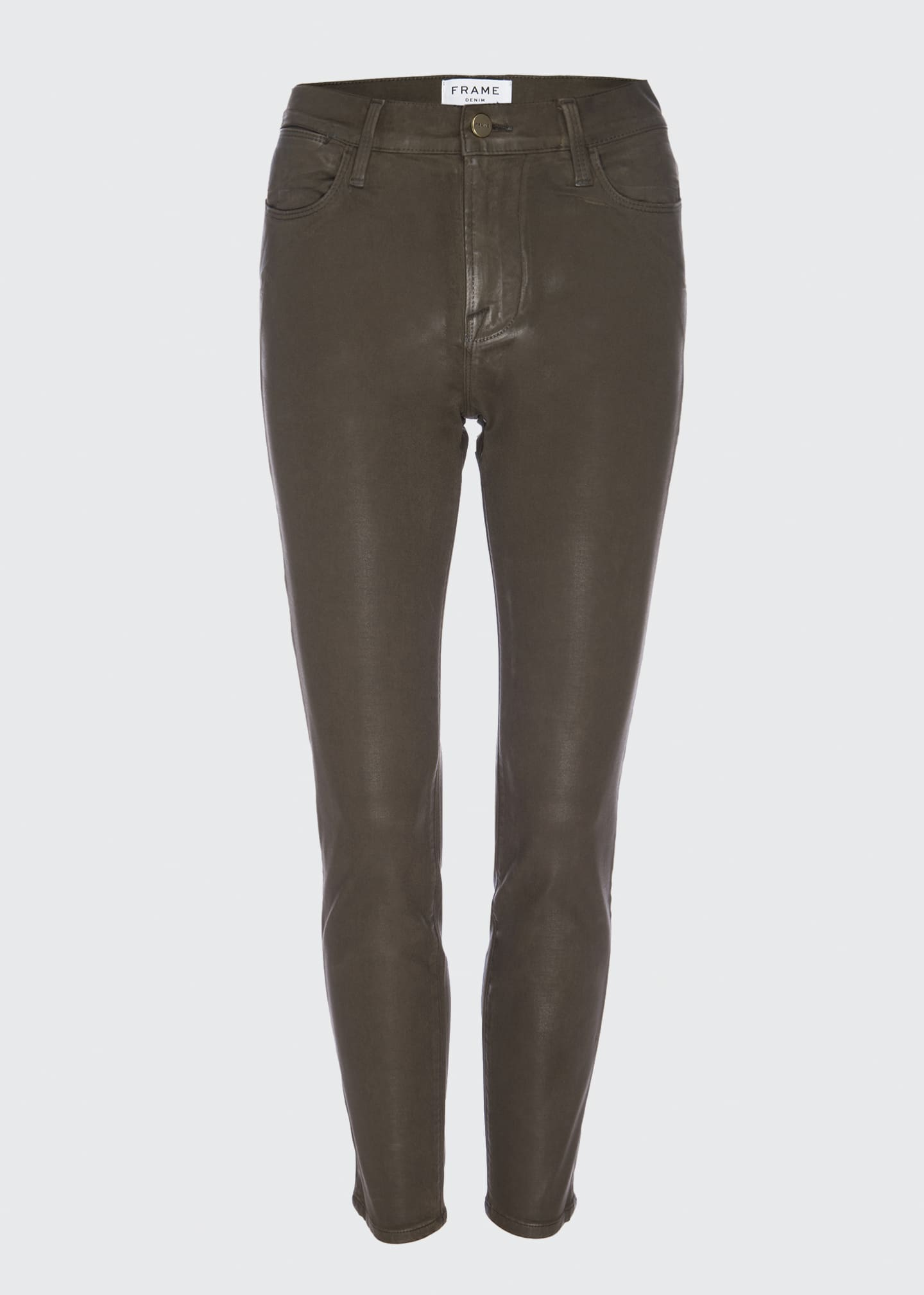 Image 1 of 3: Le High Skinny Coated Jeans