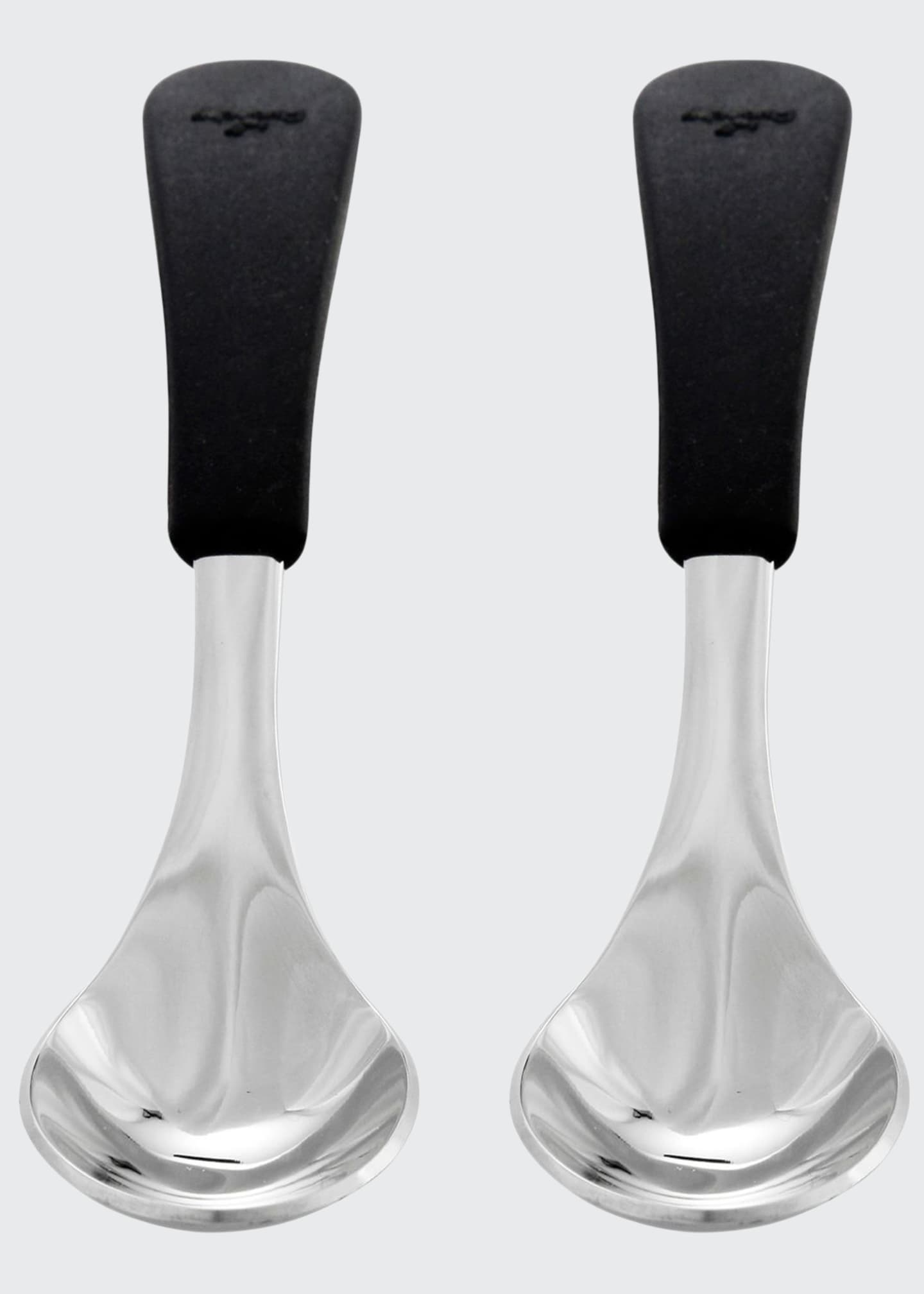 Image 1 of 1: Baby's Stainless Steel & Silicone Spoons, Set of 2