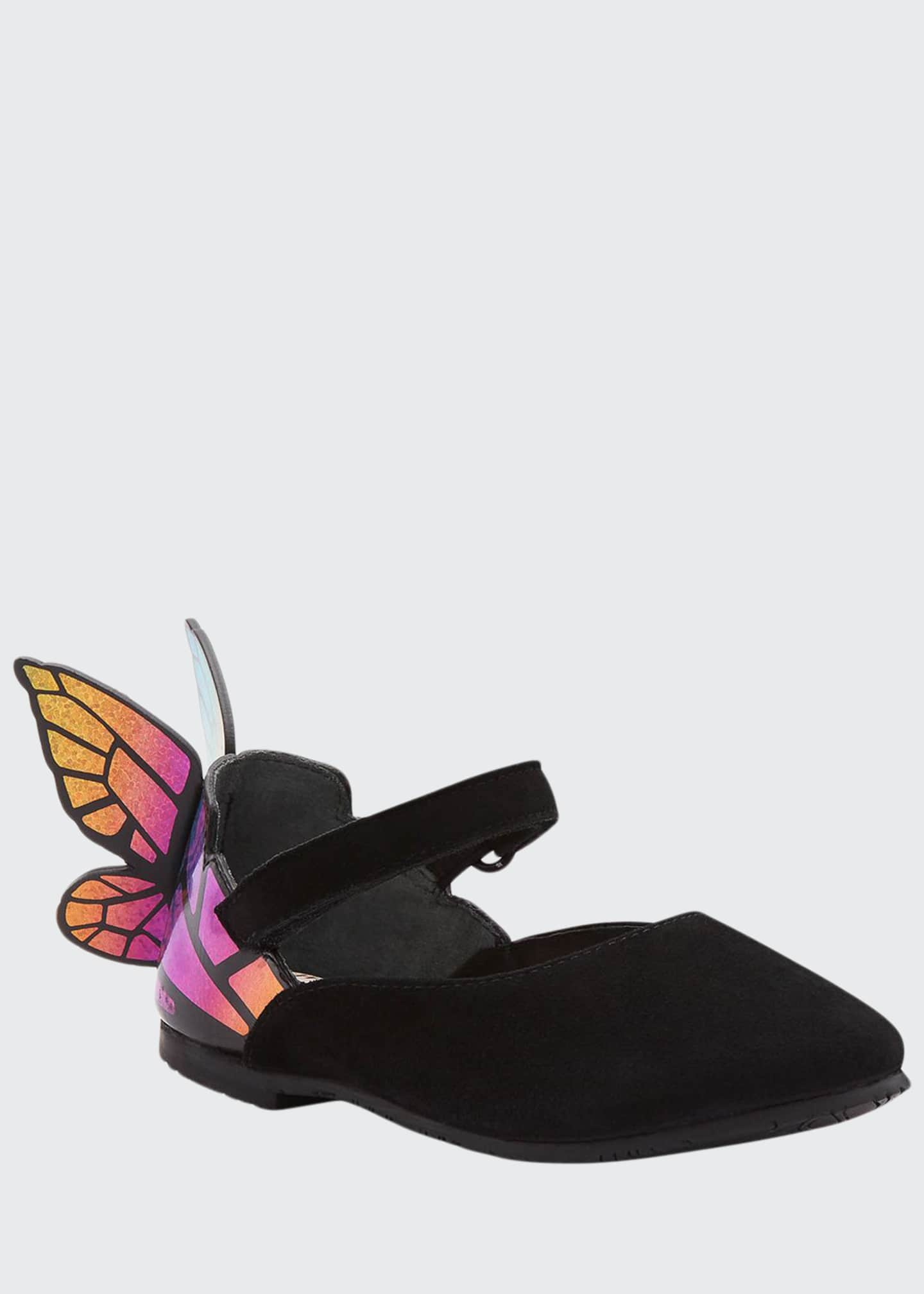 Image 1 of 3: Chiara Suede Mirrored Butterfly Mary Jane Flats, Baby/Toddler