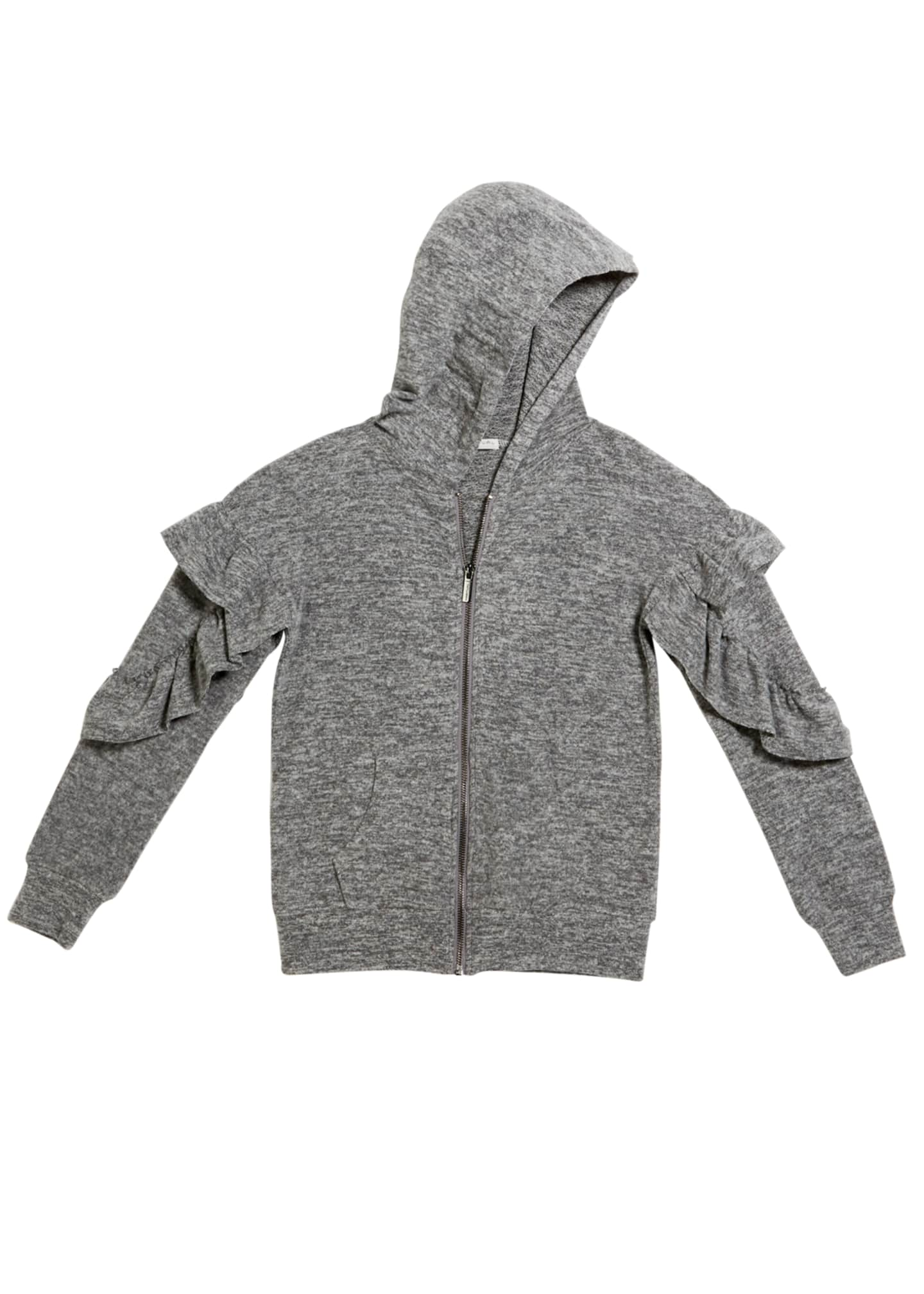 Habitual Kinsley Zip-Up Ruffle Trim Hoodie, Size 7-14