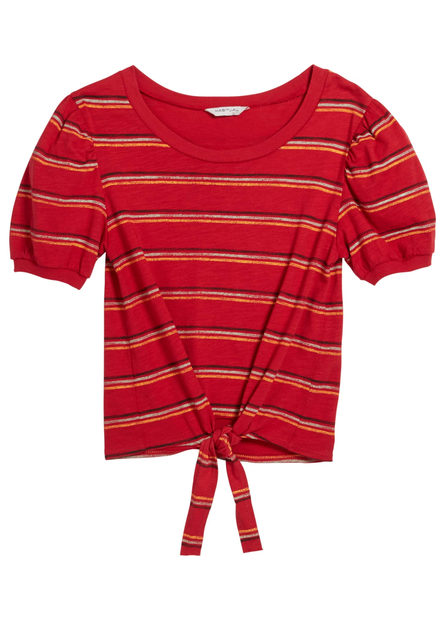 Habitual Brynlee Striped Puffy Sleeves Shirt, Size 7-14