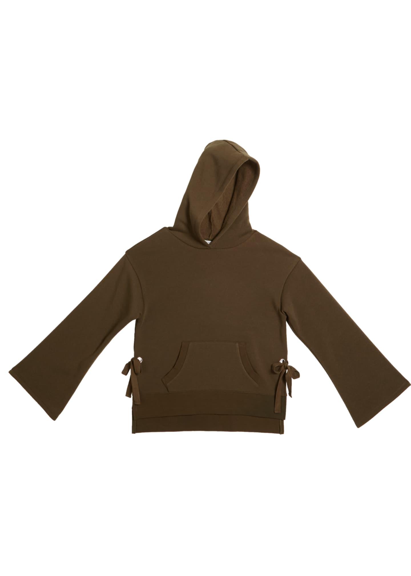Habitual Skylar Relaxed Fleece Hoodie w/ Side Ties,