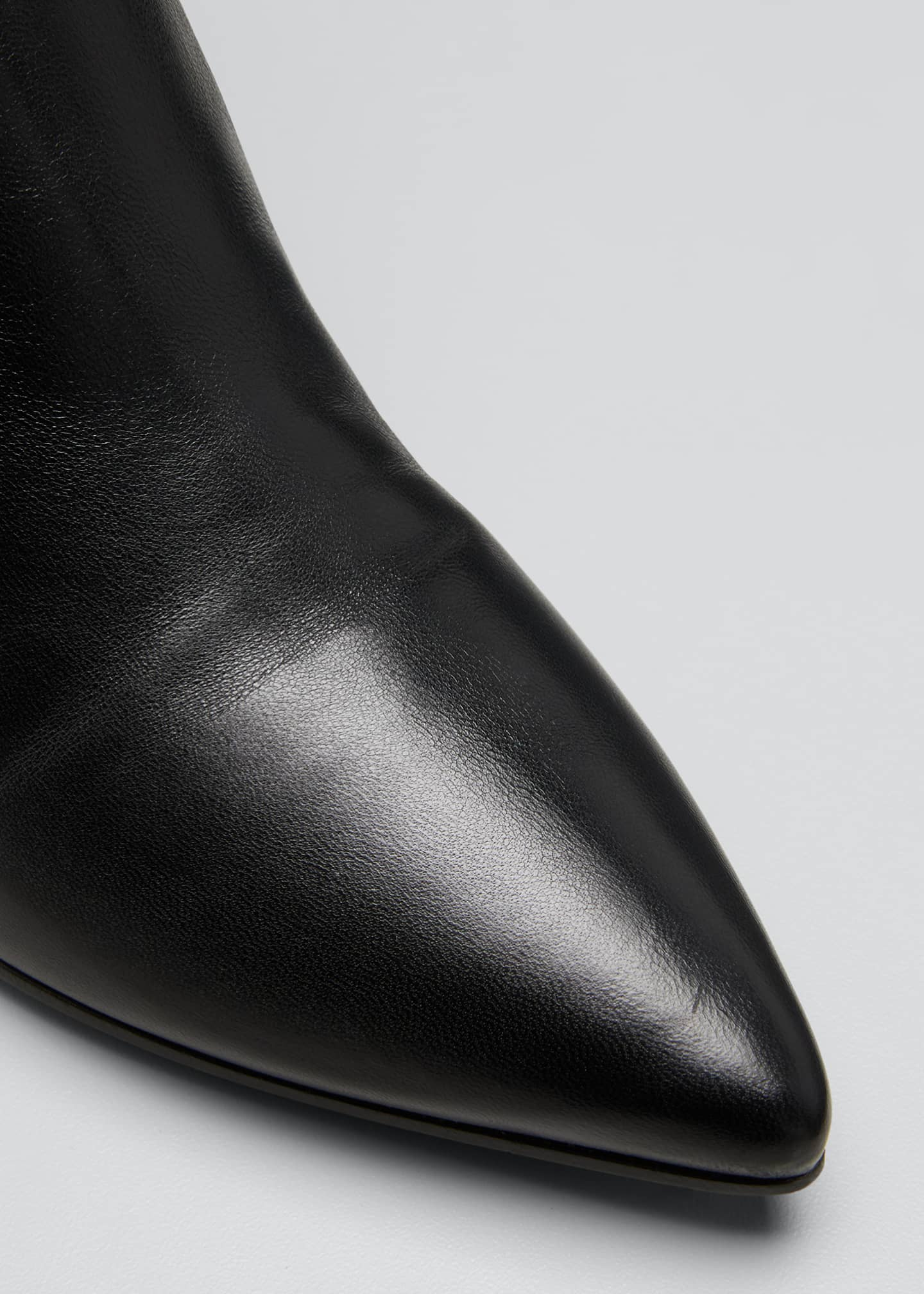Image 5 of 5: Pointed Western Leather Tall Boots
