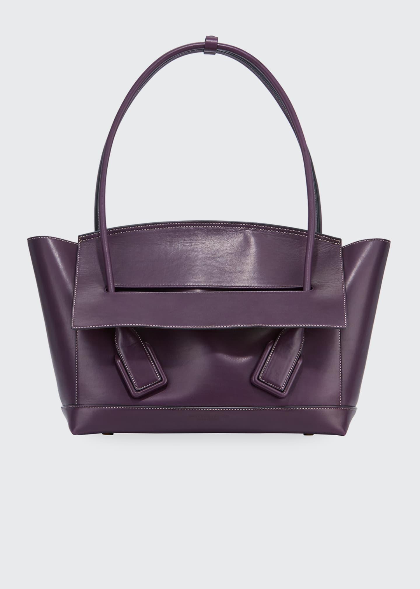 Image 1 of 2: Palmellato Large Leather Top Handle Bag