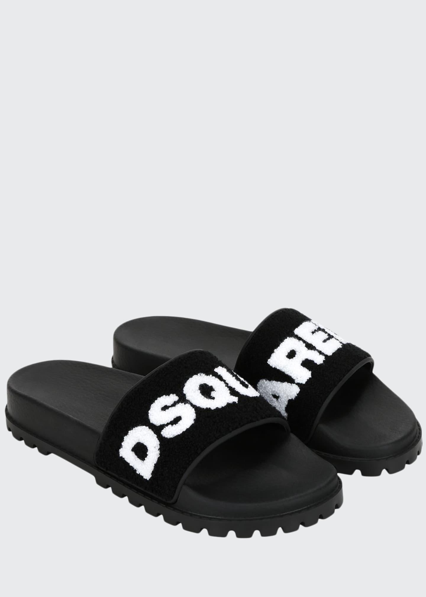 Dsquared2 Men's Terry Logo Slide Sandals