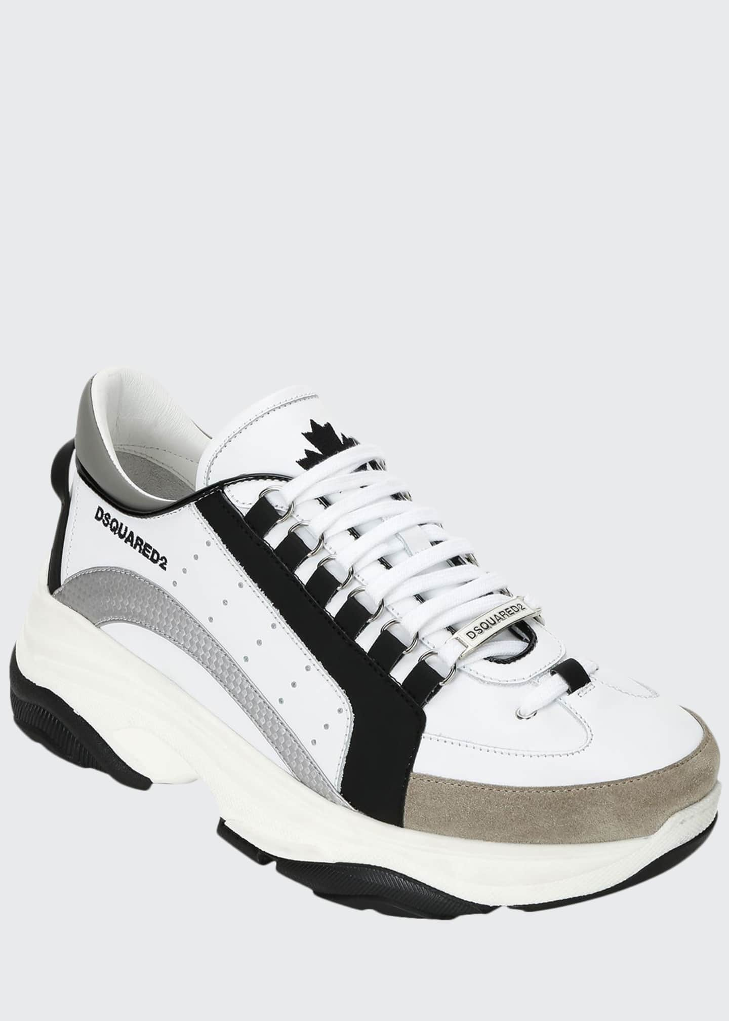 Dsquared2 Men's Colorblock Chunky Runner Sneakers, Black/White