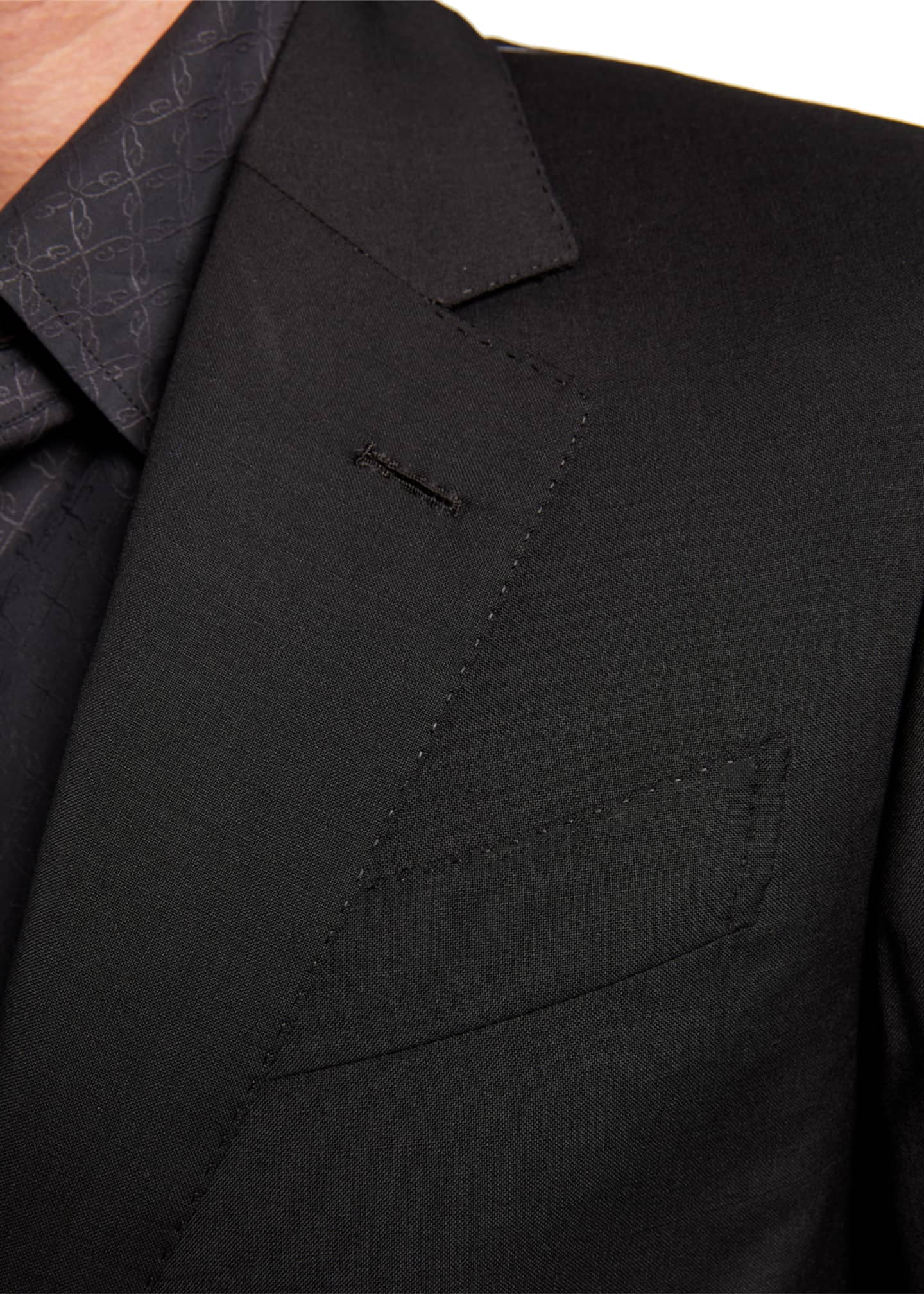 Image 4 of 4: Men's Solid Two-Piece Virgin Wool Suit