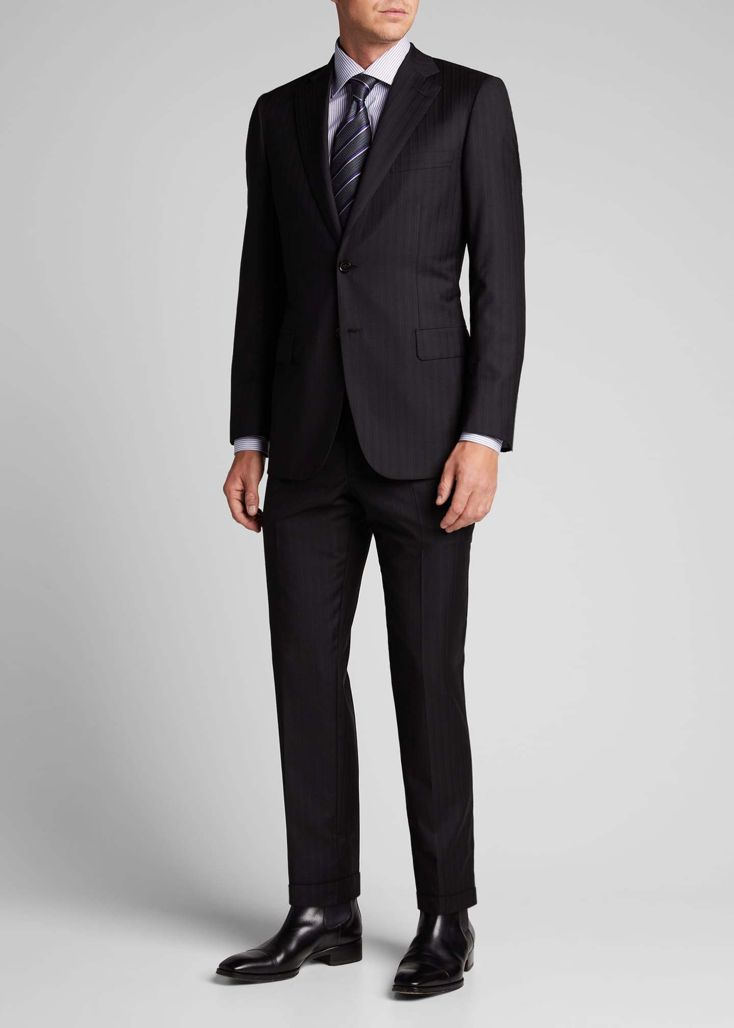 Brioni Men's Tonal Striped Two-Piece Suit