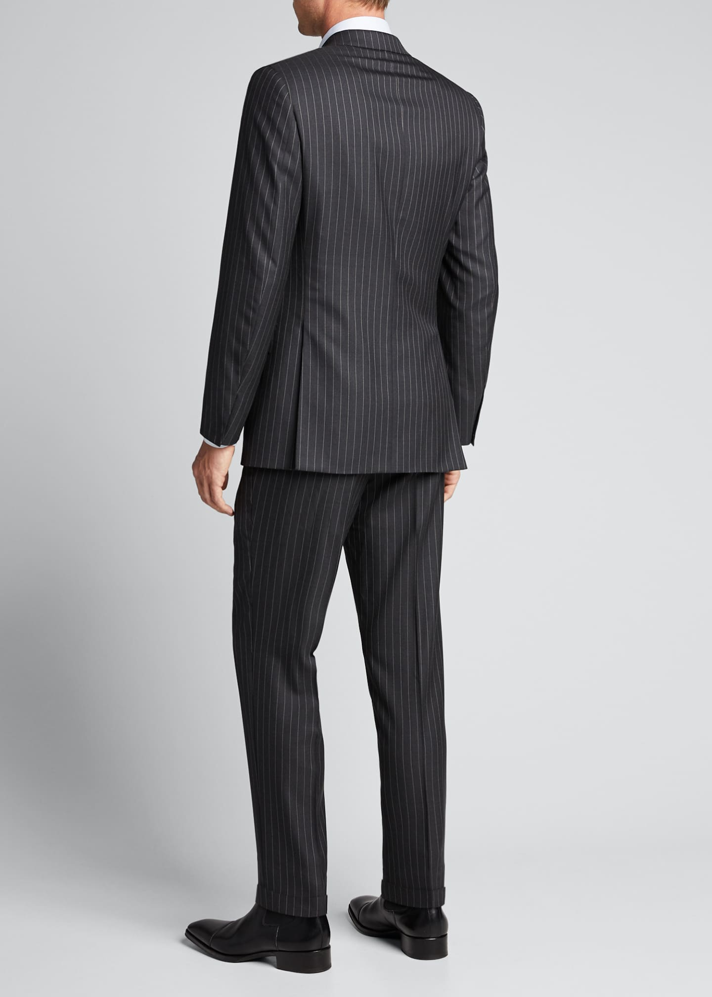 Image 2 of 5: Men's Pinstriped Two-Piece Suit