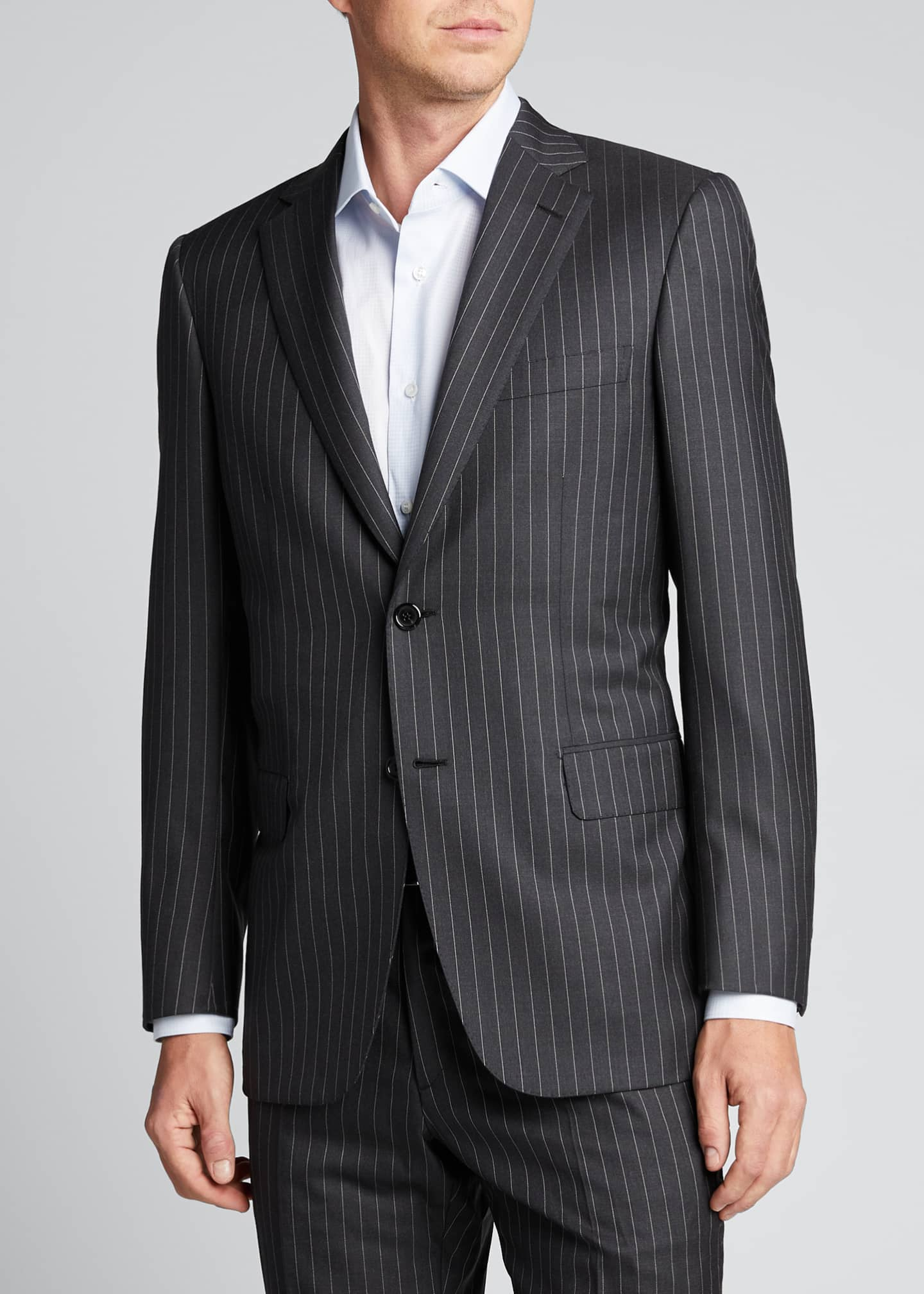 Image 3 of 5: Men's Pinstriped Two-Piece Suit