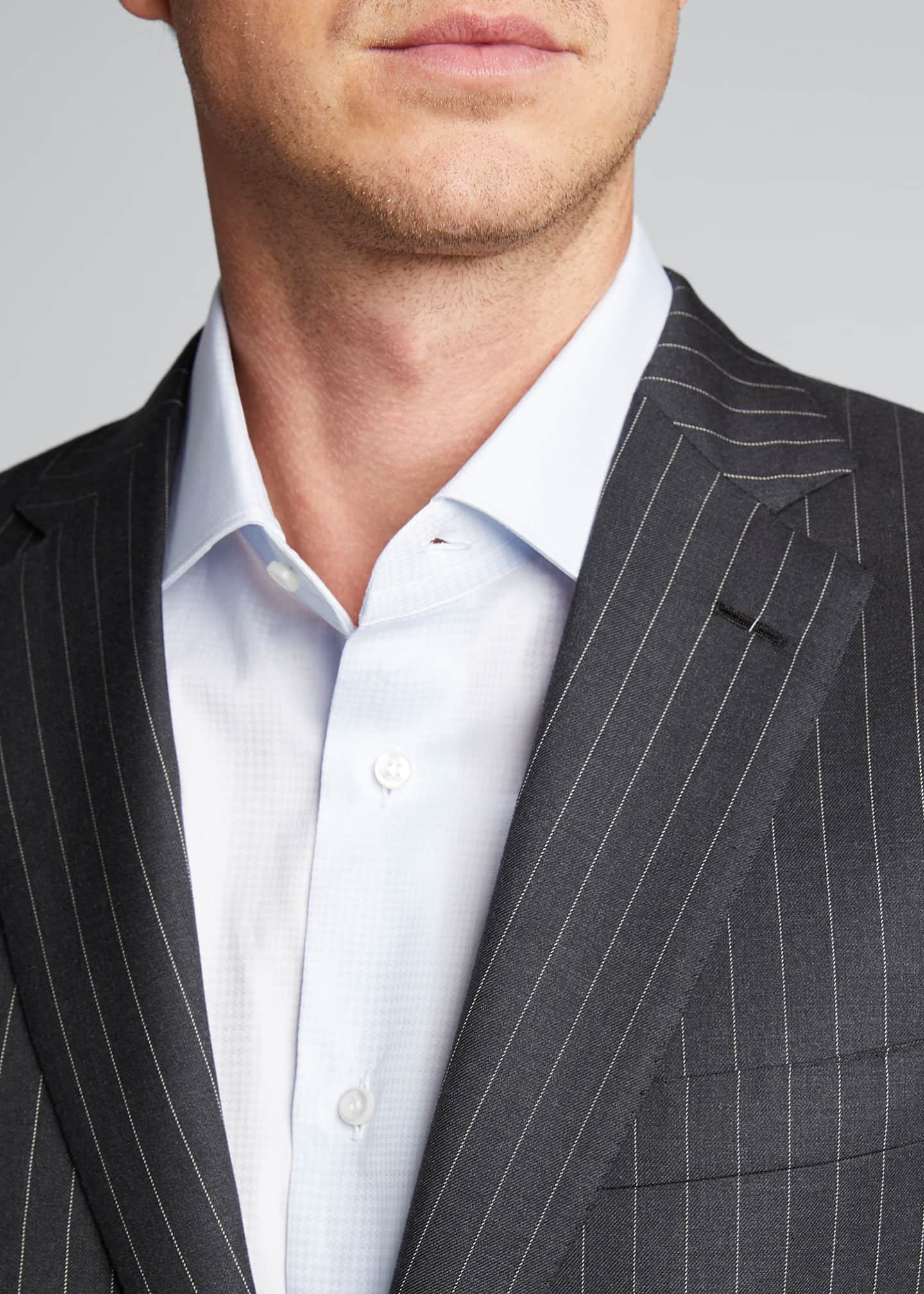 Image 4 of 5: Men's Pinstriped Two-Piece Suit
