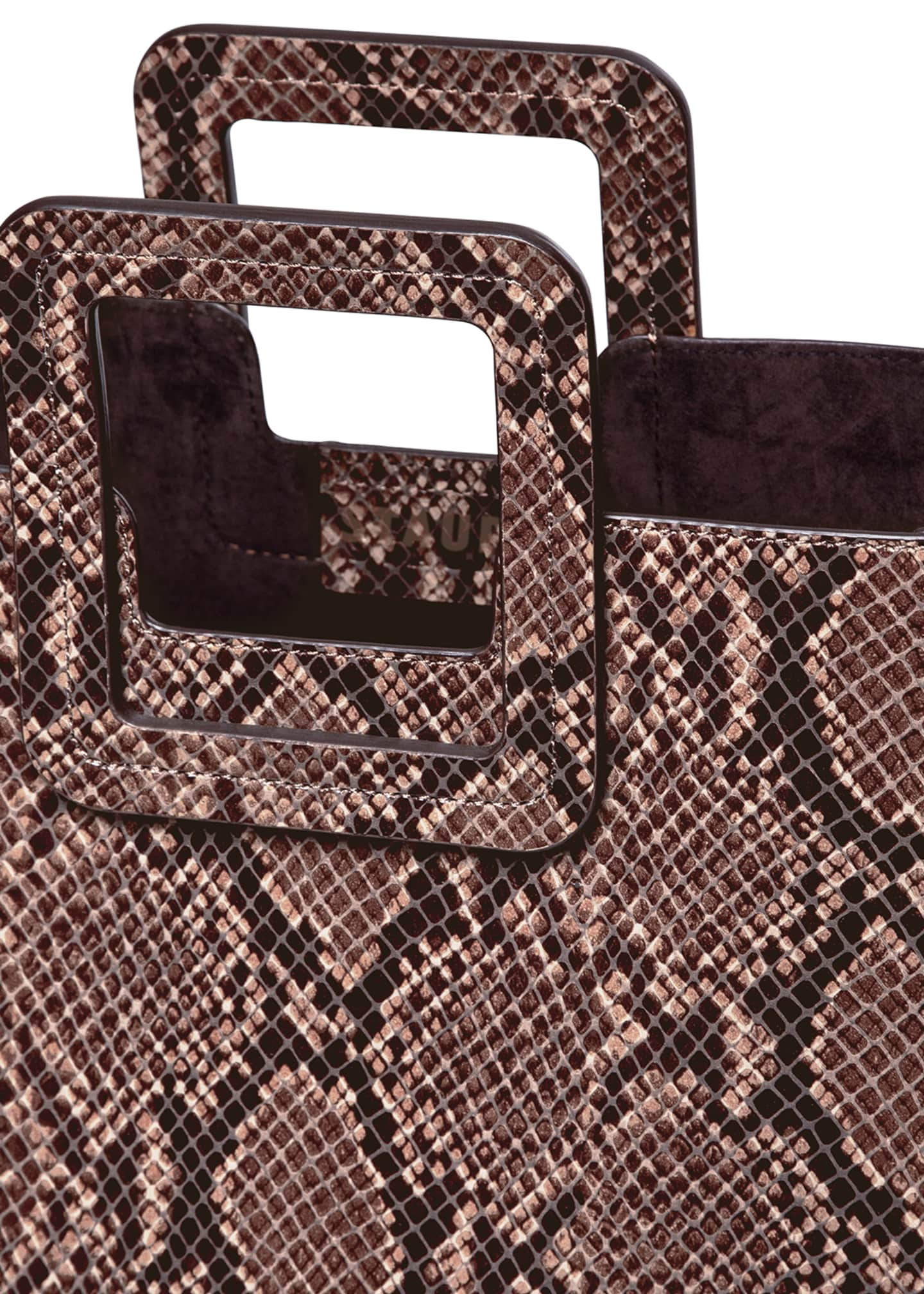 Image 5 of 5: Shirley Snake-Embossed Tote Bag