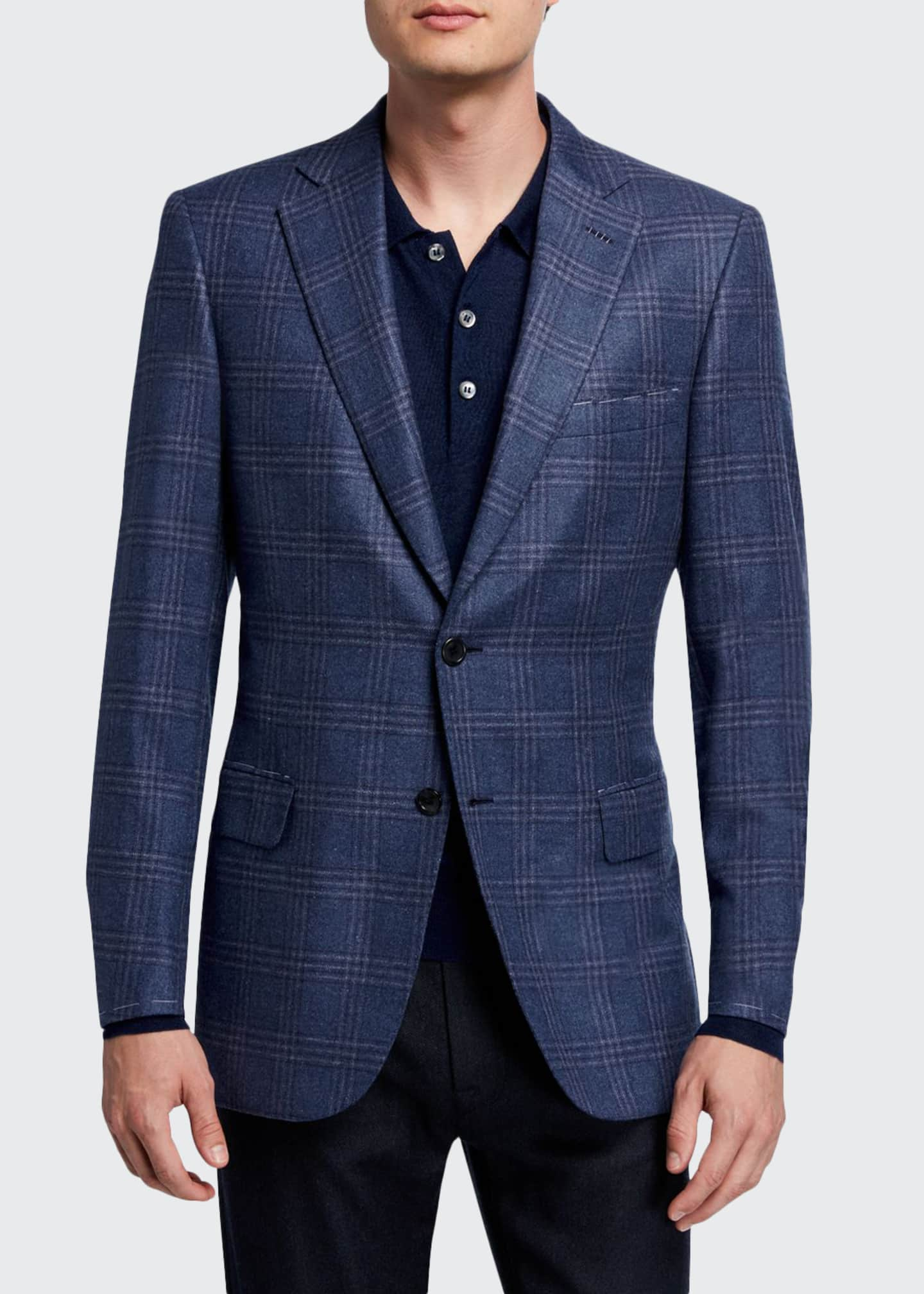 Brioni Men's Plaid Two-Button Jacket