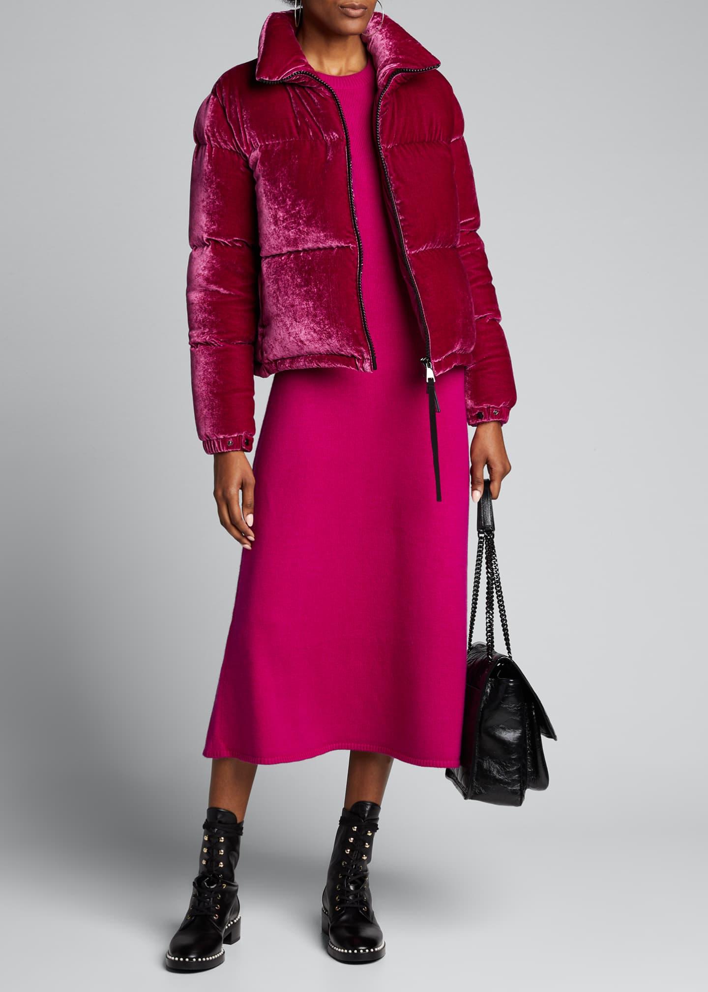 Moncler Rimac Velvet Puffer Coat