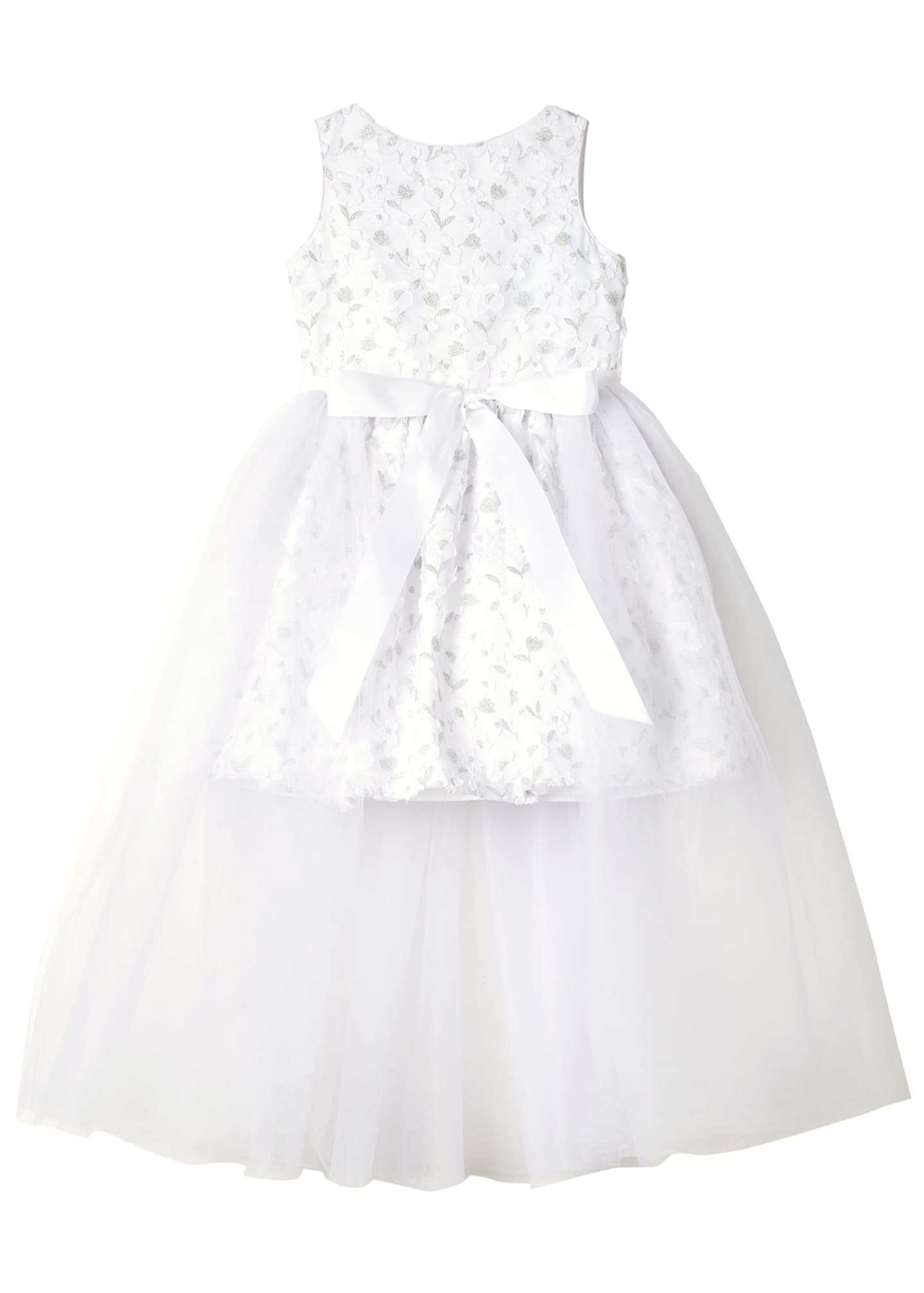 Badgley Mischka Kid's Short Lace Dress w/ Open