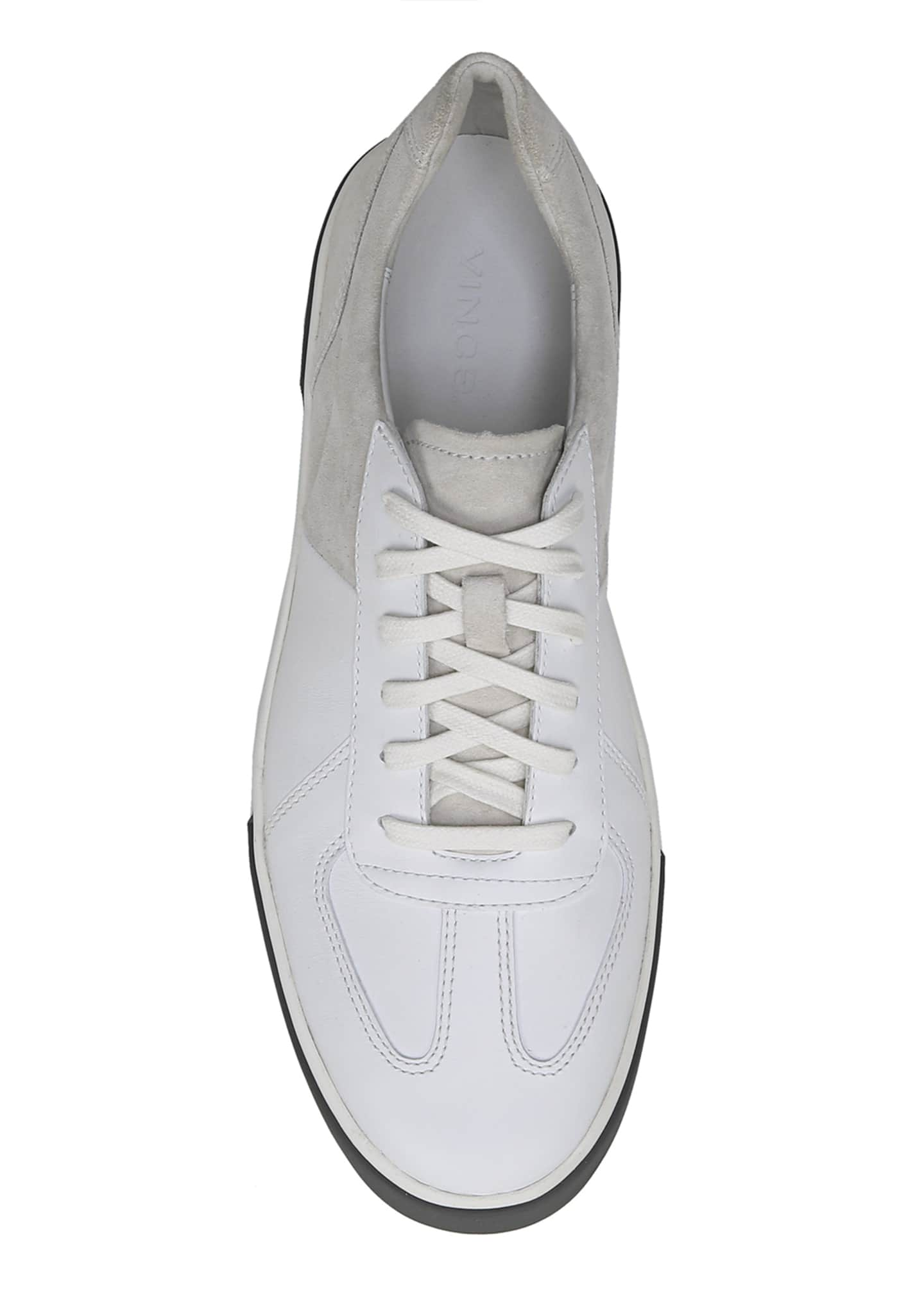Image 4 of 5: Men's Rogue Suede & Leather Low-Top Sneakers