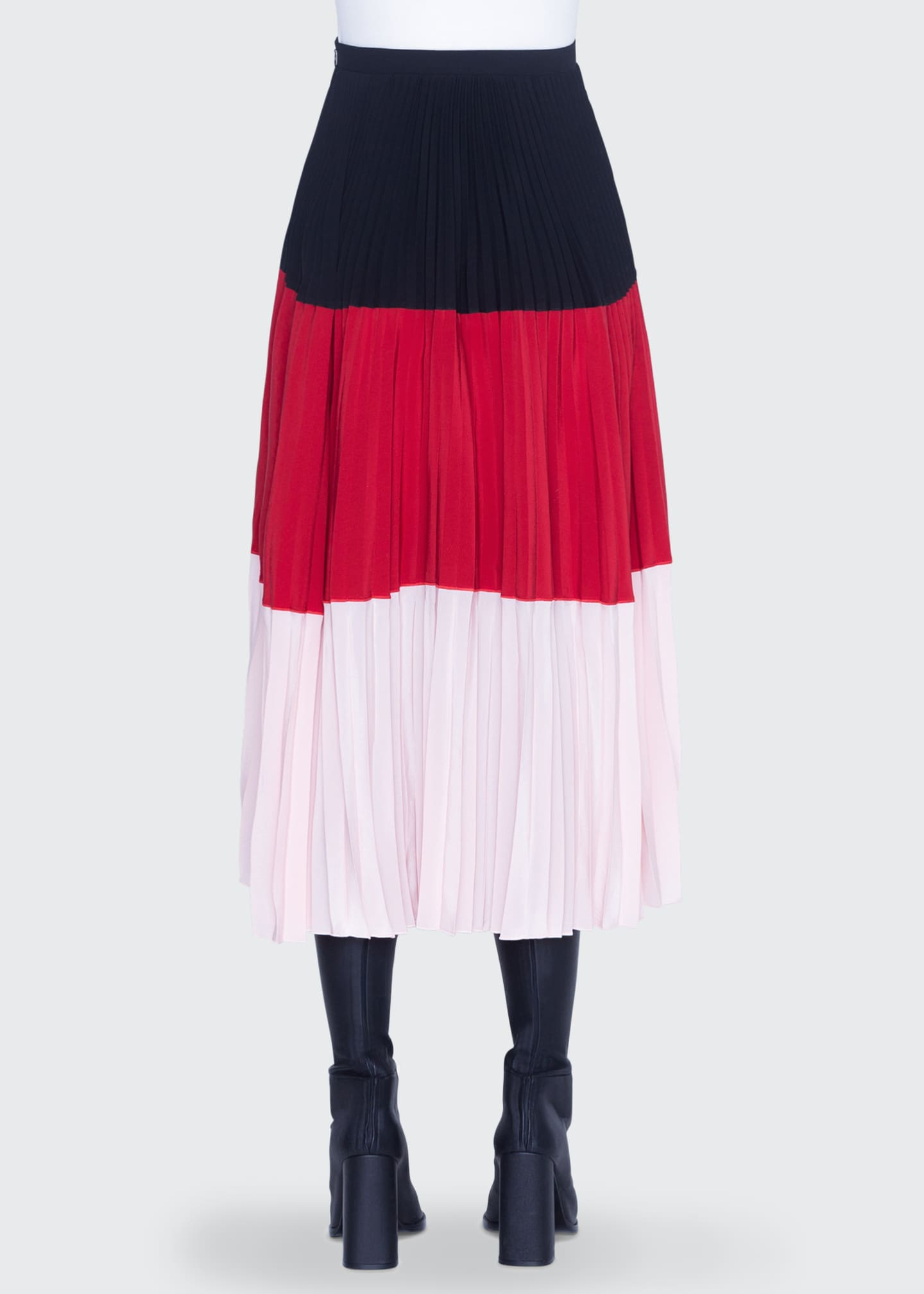Image 2 of 2: Colorblocked Crepe Bell-Shaped Skirt