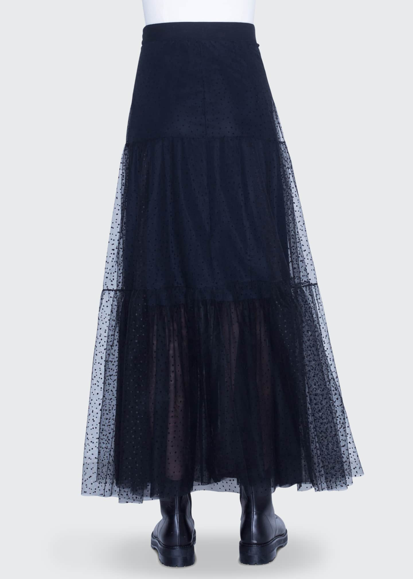 Image 2 of 2: Starry Sky Tulle Midi Skirt