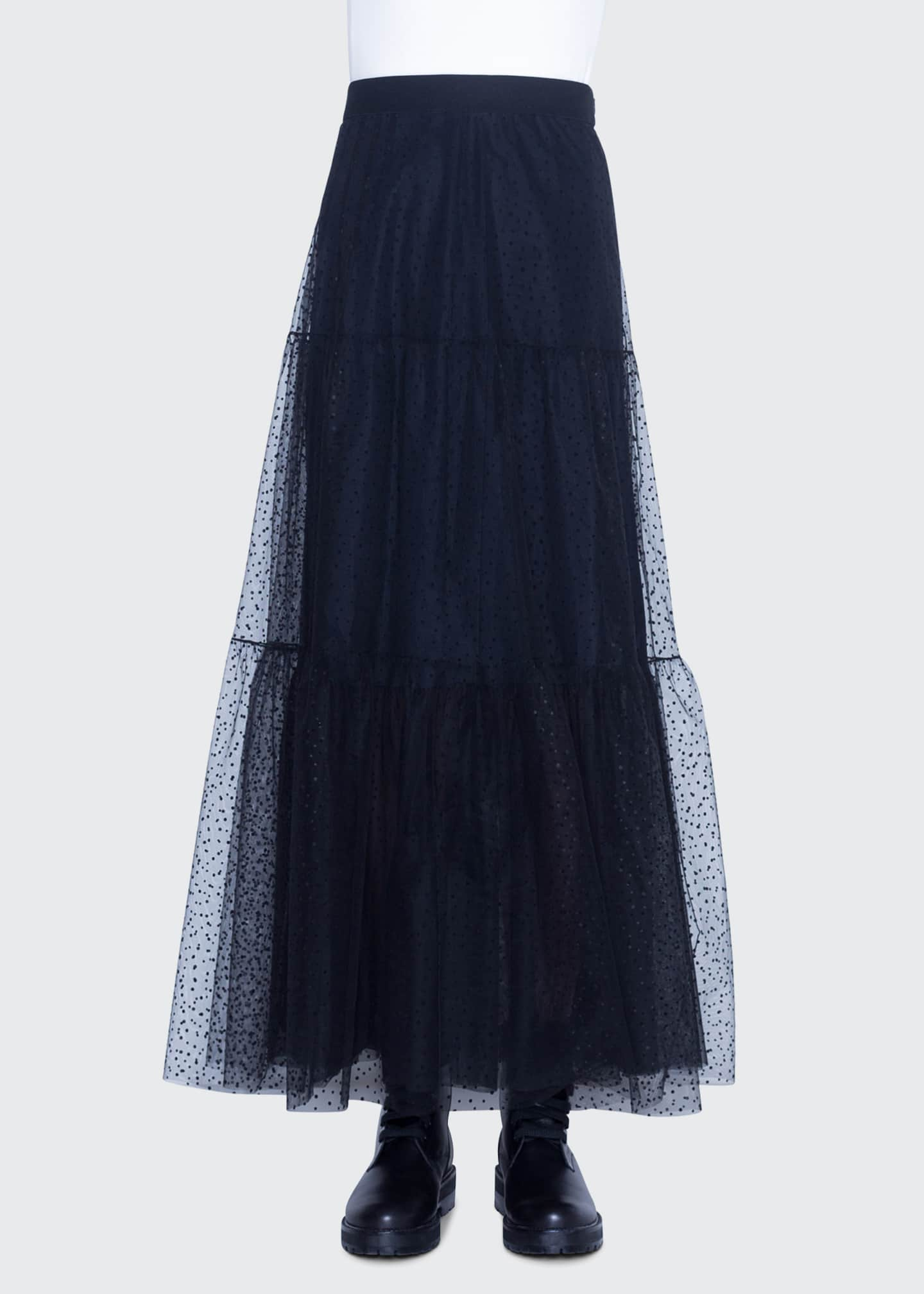 Image 1 of 2: Starry Sky Tulle Midi Skirt