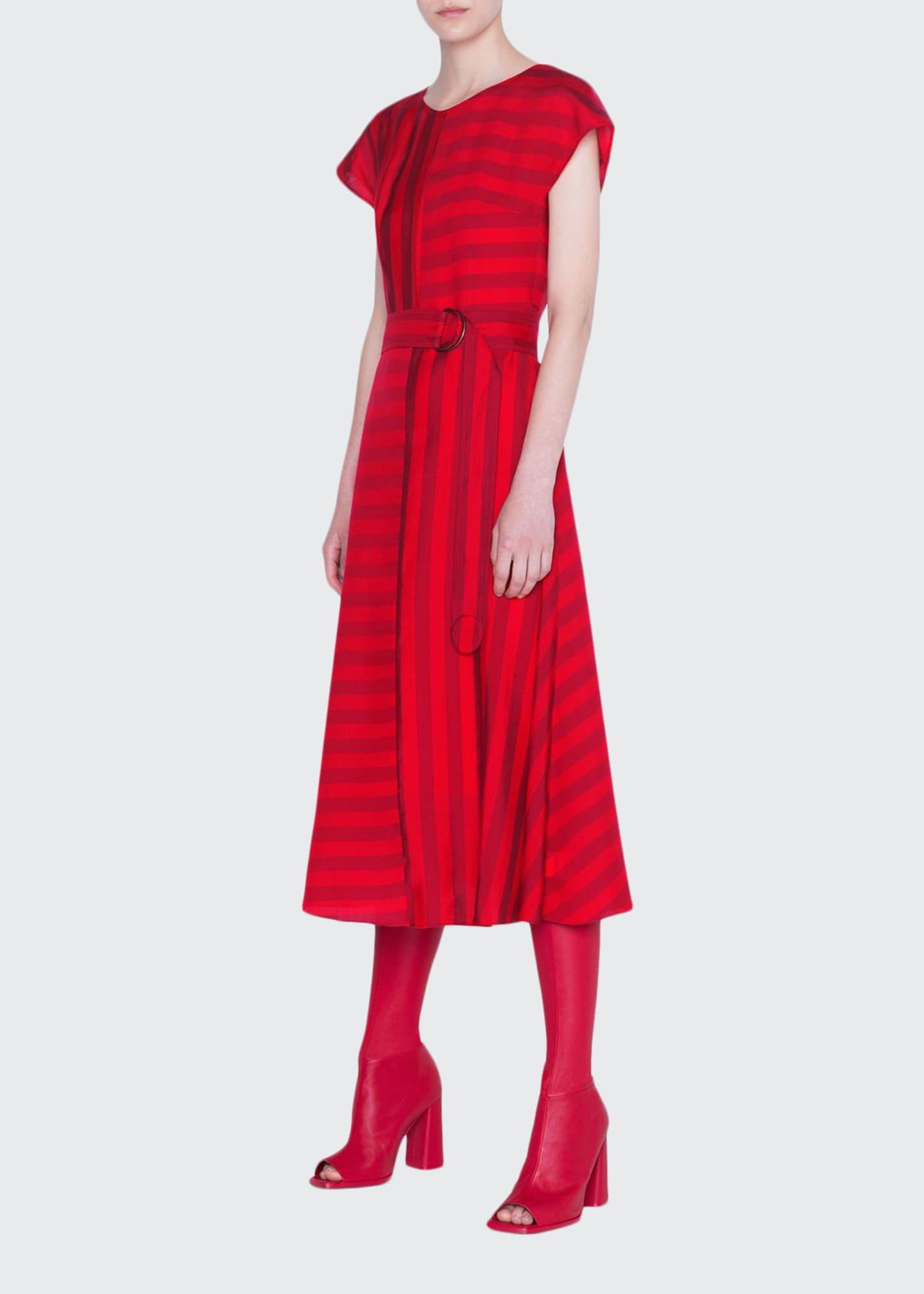 Akris punto Tonal Kodak-Striped Dress