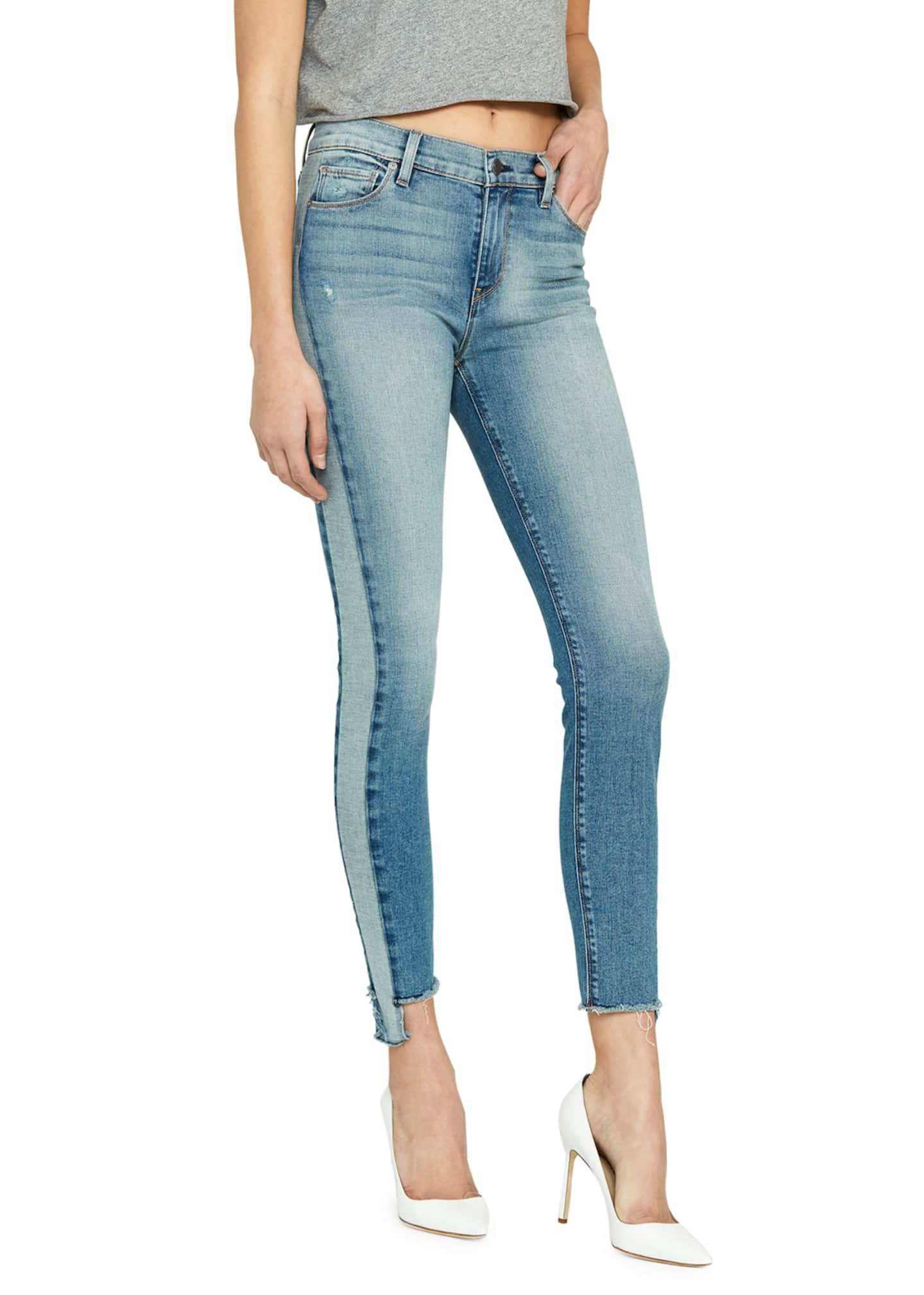 Image 3 of 4: Barbara High-Rise Cropped Skinny Jeans