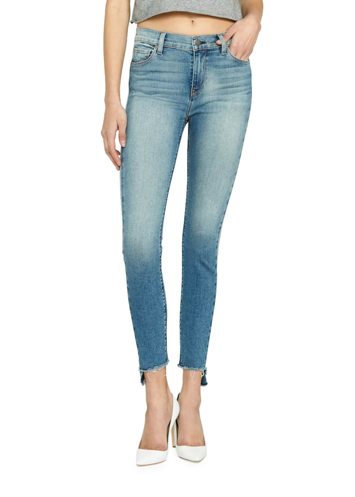 Hudson Barbara High-Rise Cropped Skinny Jeans