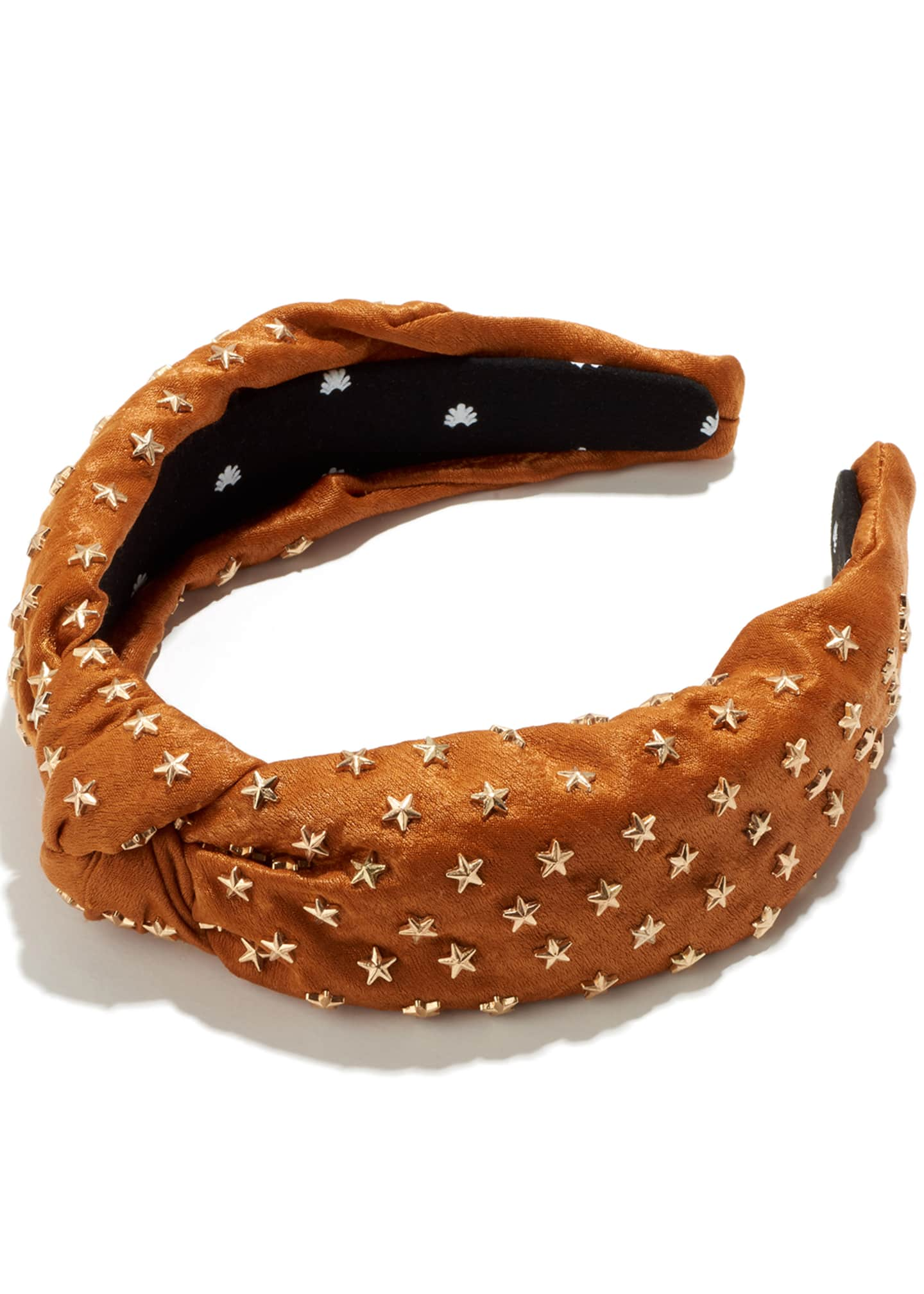 Image 1 of 1: Silk Star Studded Knotted Headband