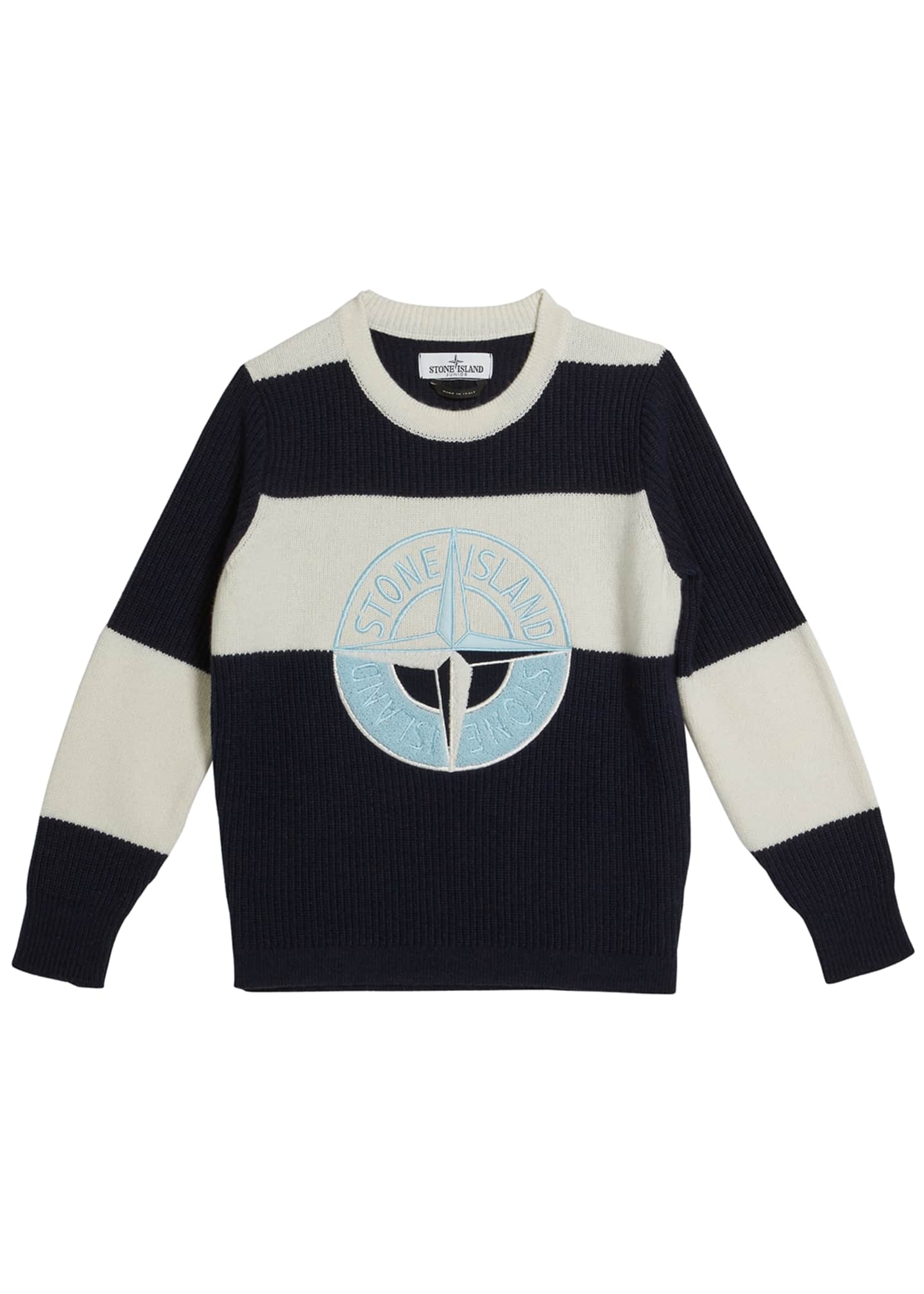 Image 1 of 1: Colorblock Logo Embroidered Sweater, Size 2-6