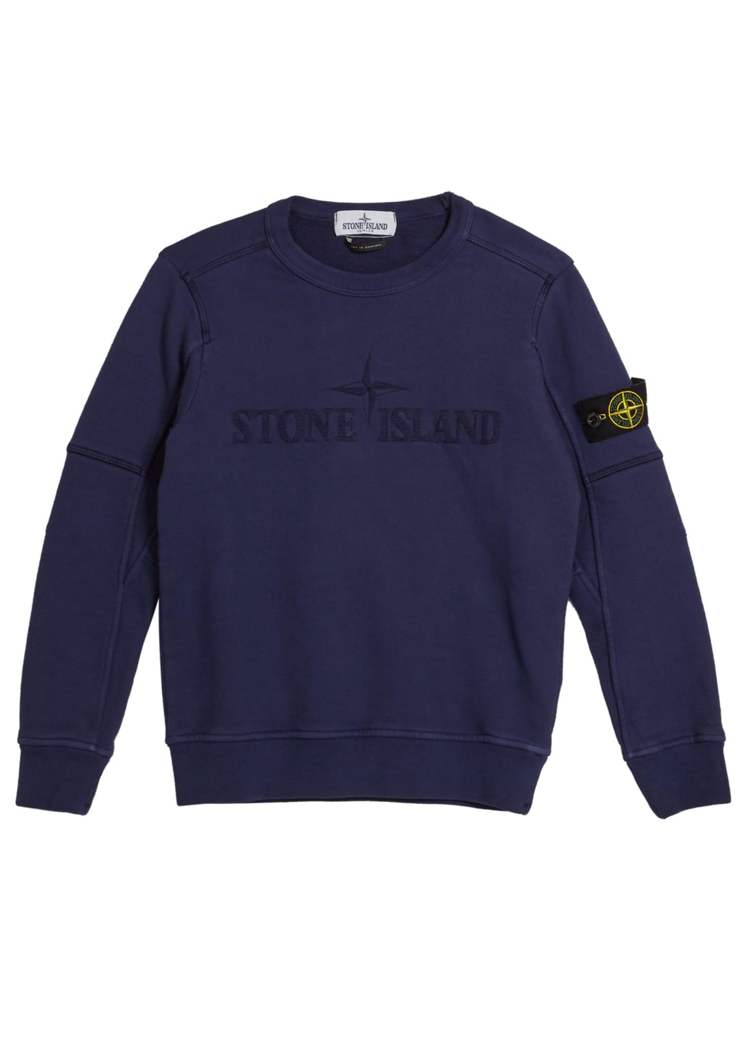 Stone Island Logo Embroidered Sweatshirt, Size 2-6