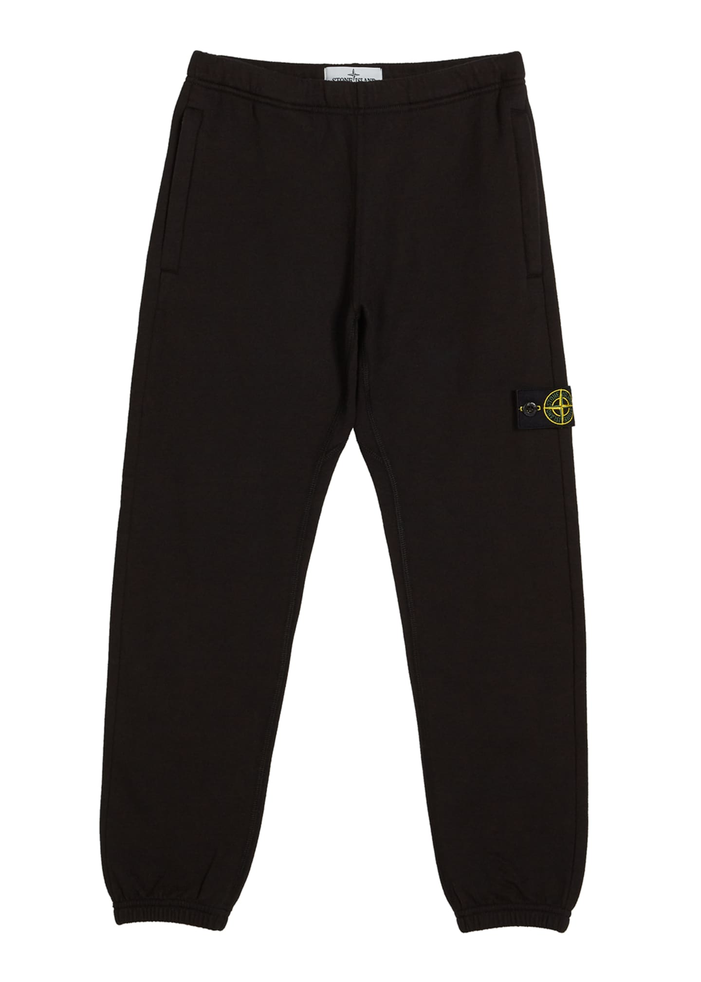 Stone Island Cotton Sweatpants w/ Reflective Tape Trim,