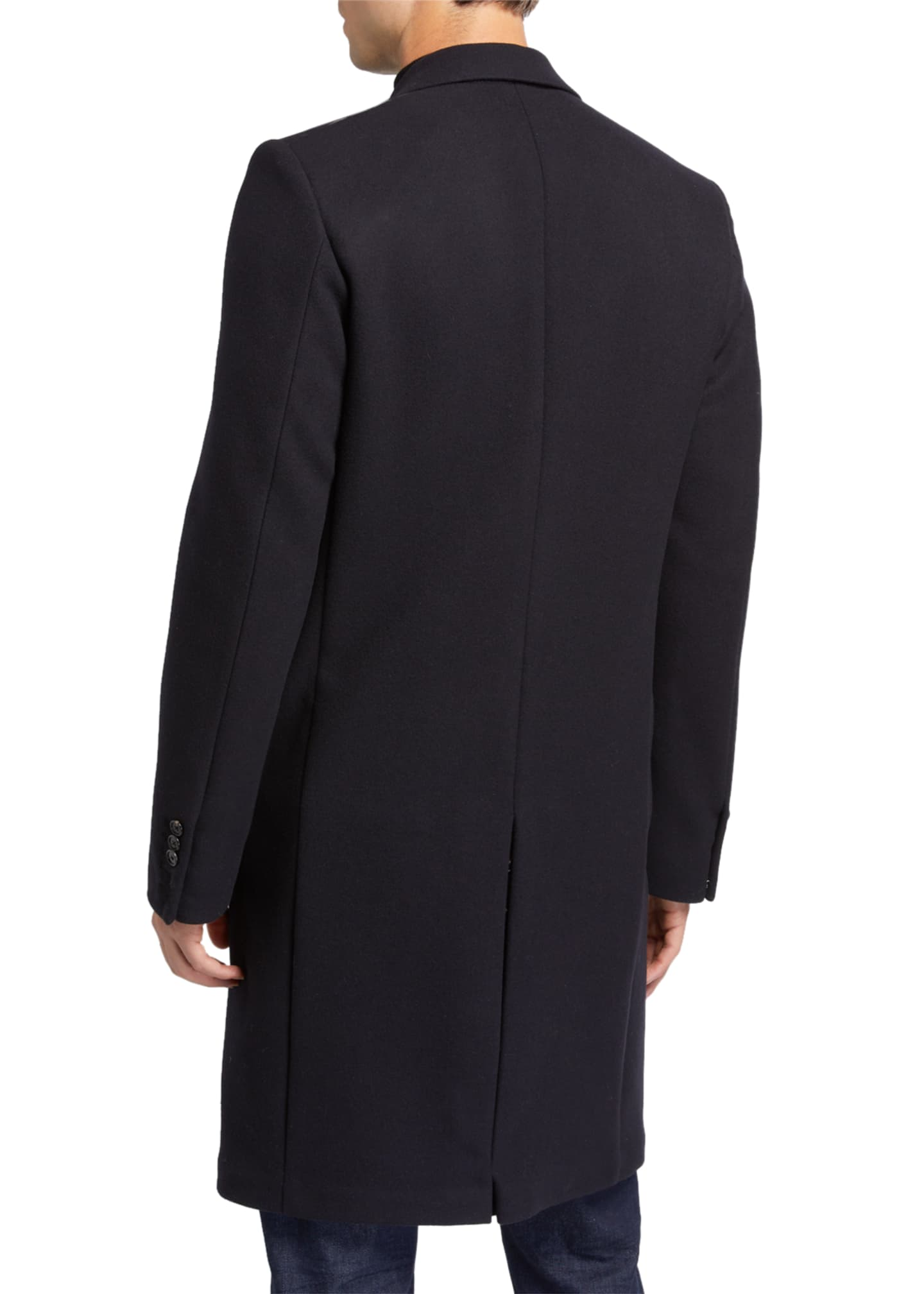 Image 3 of 3: Men's Gilles Single-Breasted Wool-Blend Overcoat