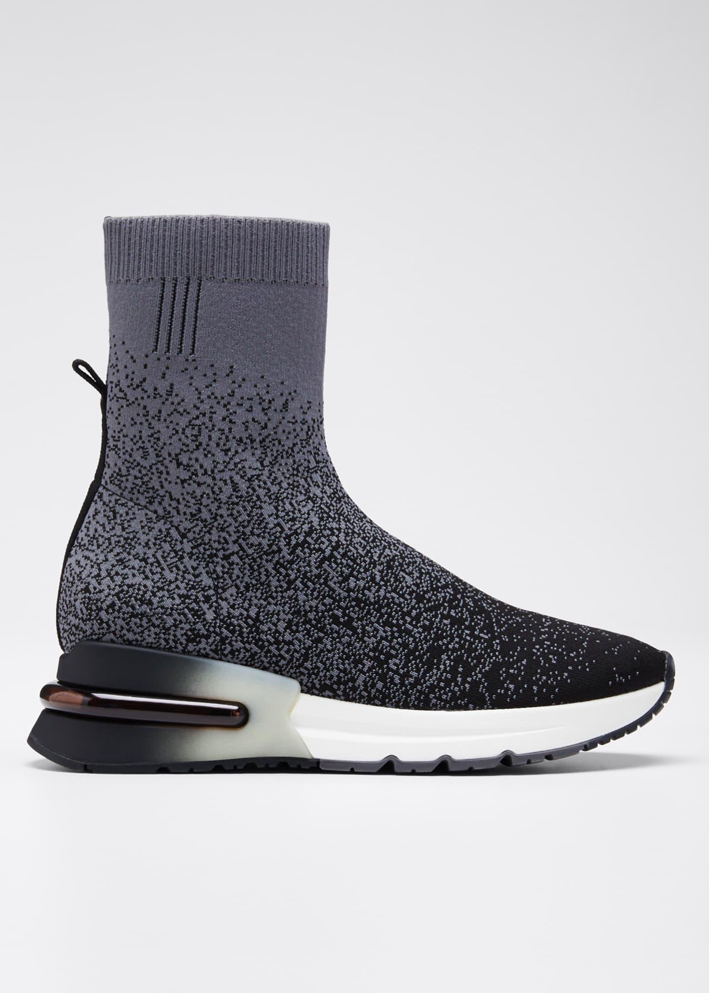 Ash Kory Pixel-Print Sock Sneakers