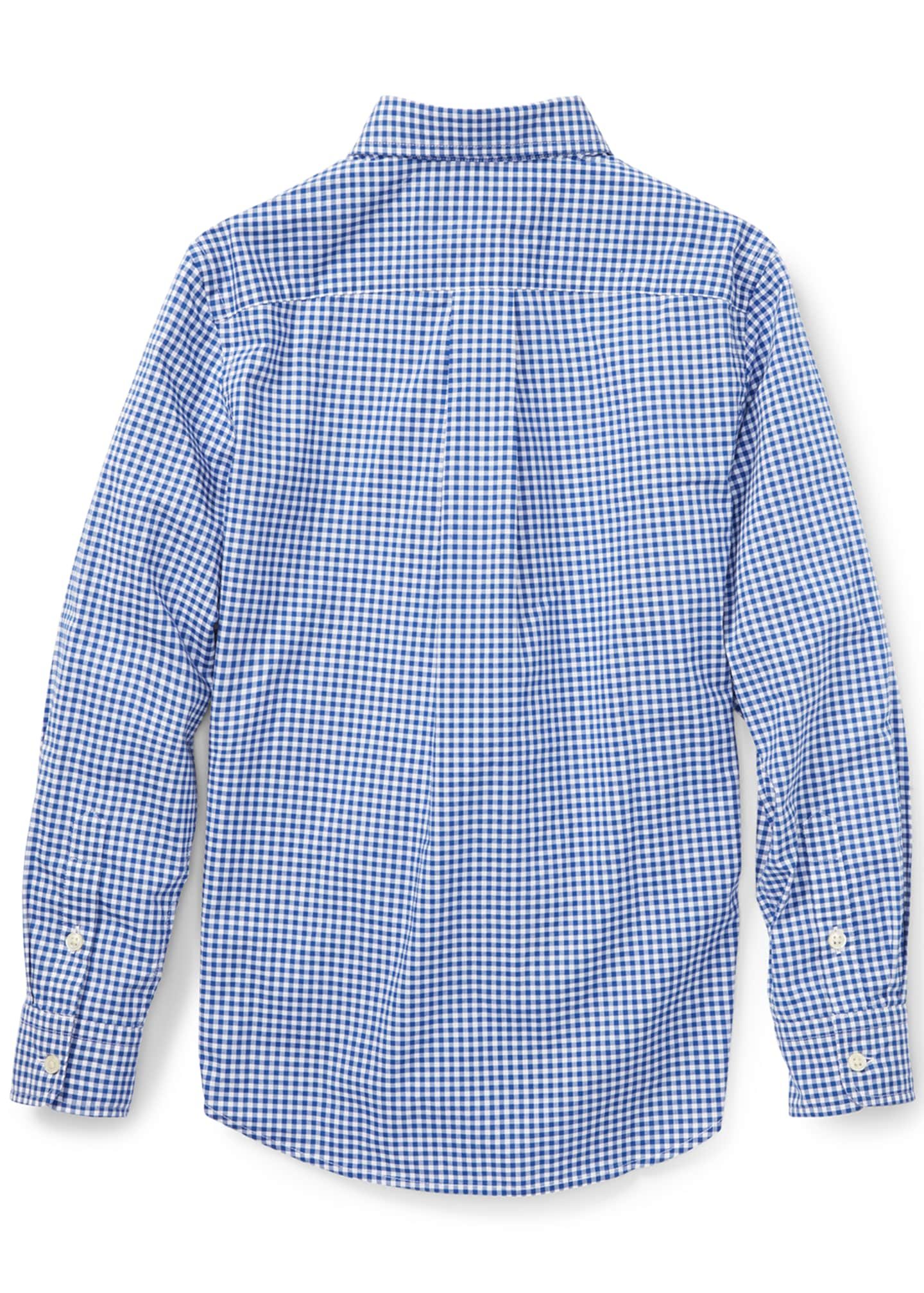 Image 2 of 2: Poplin Woven Gingham Sport Shirt, Size S-XL